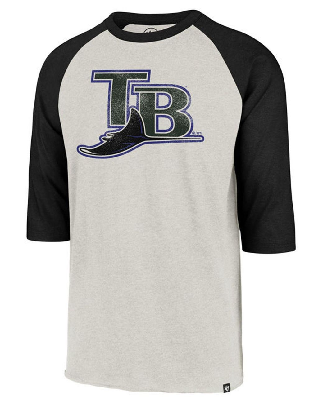 a8cd96e8 Men's Black Tampa Bay Rays Coop Throwback Club Raglan T-shirt