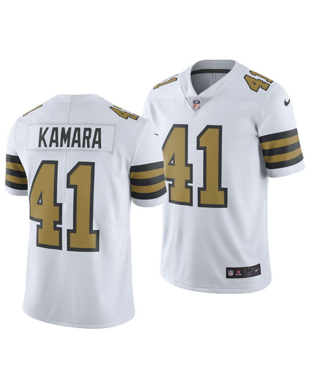 pretty nice dc249 7b7c4 Men's White Alvin Kamara New Orleans Saints Limited Color Rush Jersey