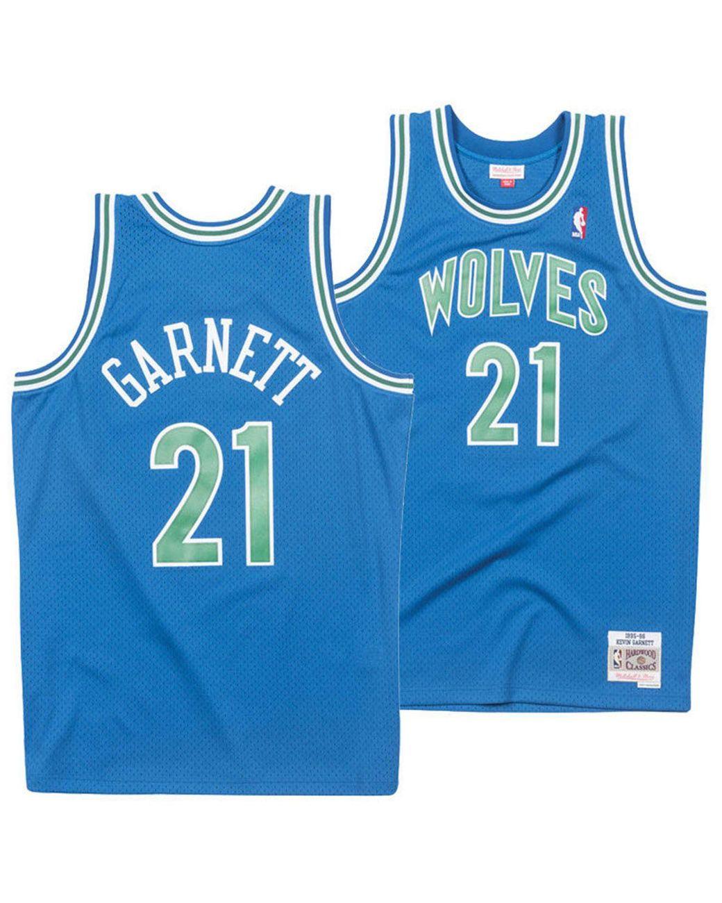 info for 44464 48463 Men's Blue Kevin Garnett Minnesota Timberwolves Hardwood Classic Swingman  Jersey