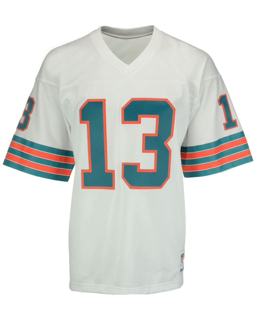 huge discount 01b83 05764 White Men's Dan Marino Miami Dolphins Replica Throwback Jersey