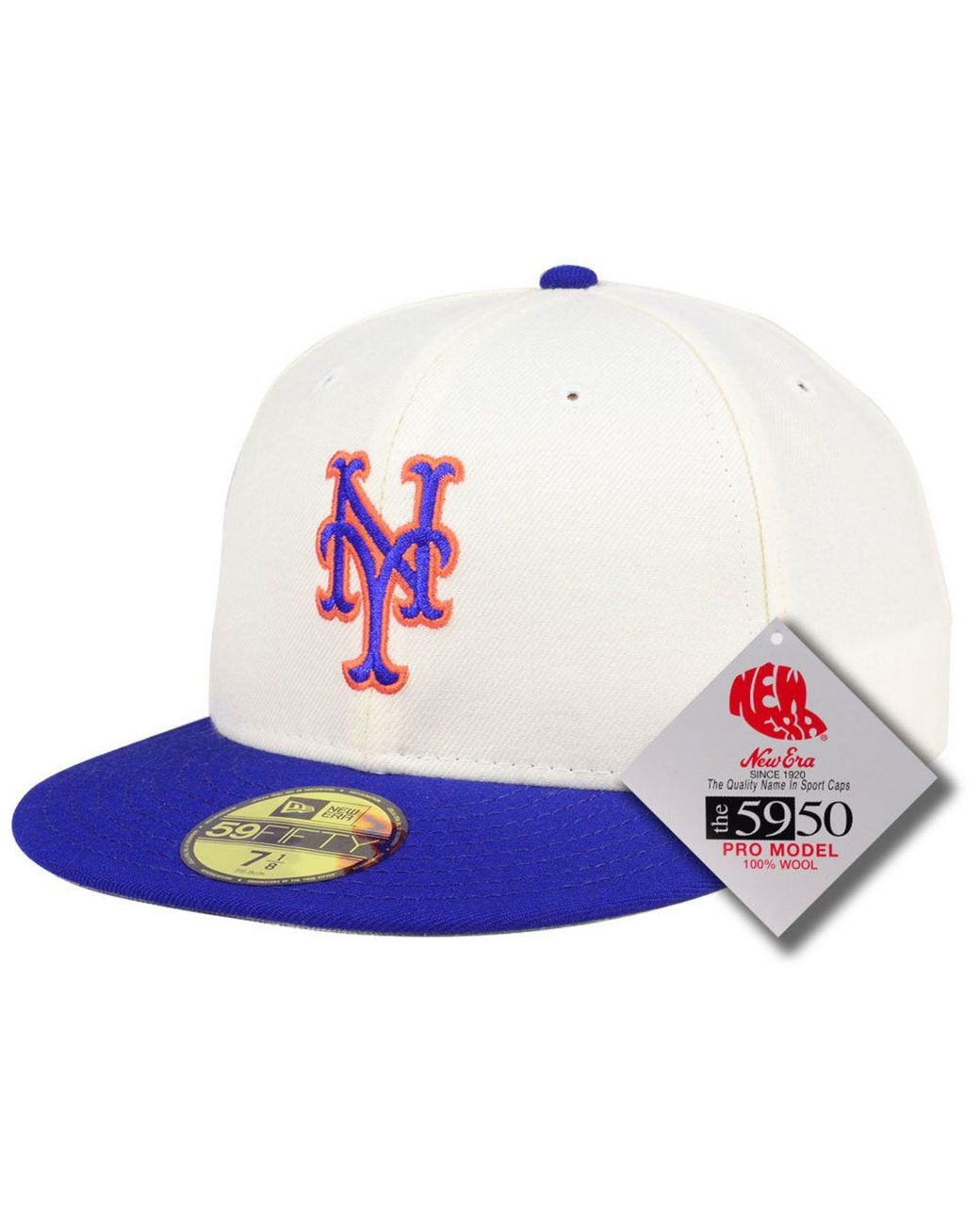 good order online newest collection KTZ Wool New York Mets Retro Classic 59fifty-fitted Cap in White ...