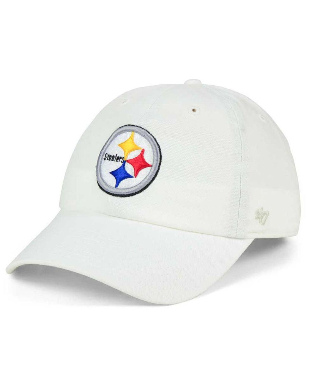 ed9f1da4 Men's White Pittsburgh Steelers Clean Up Strapback Cap