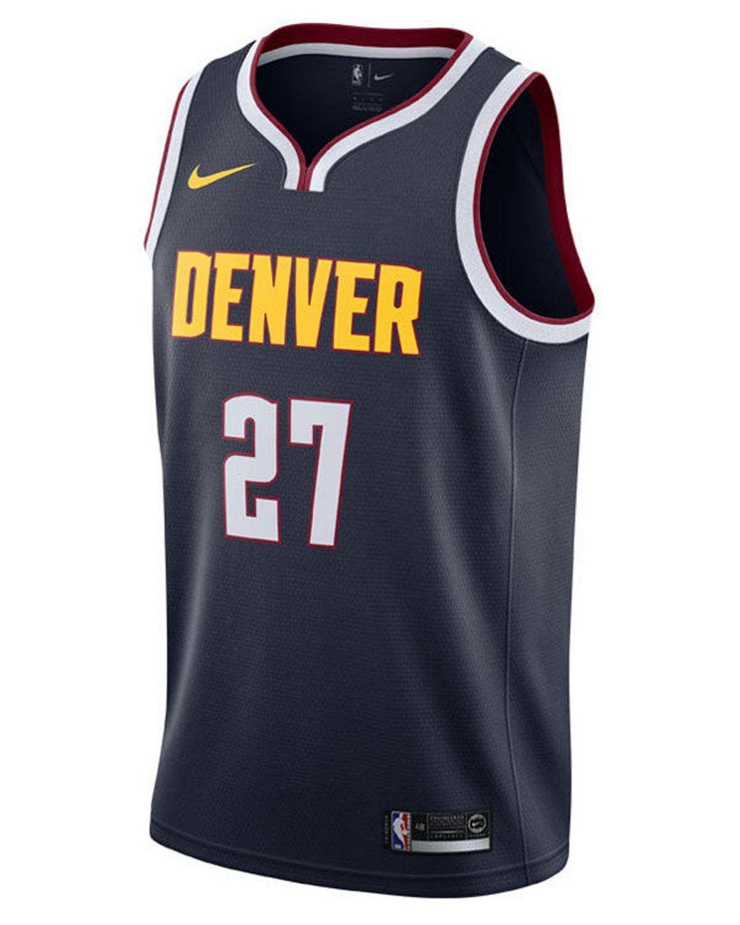 release date f737d aa2b8 Men's Blue Jamal Murray Denver Nuggets Icon Swingman Jersey