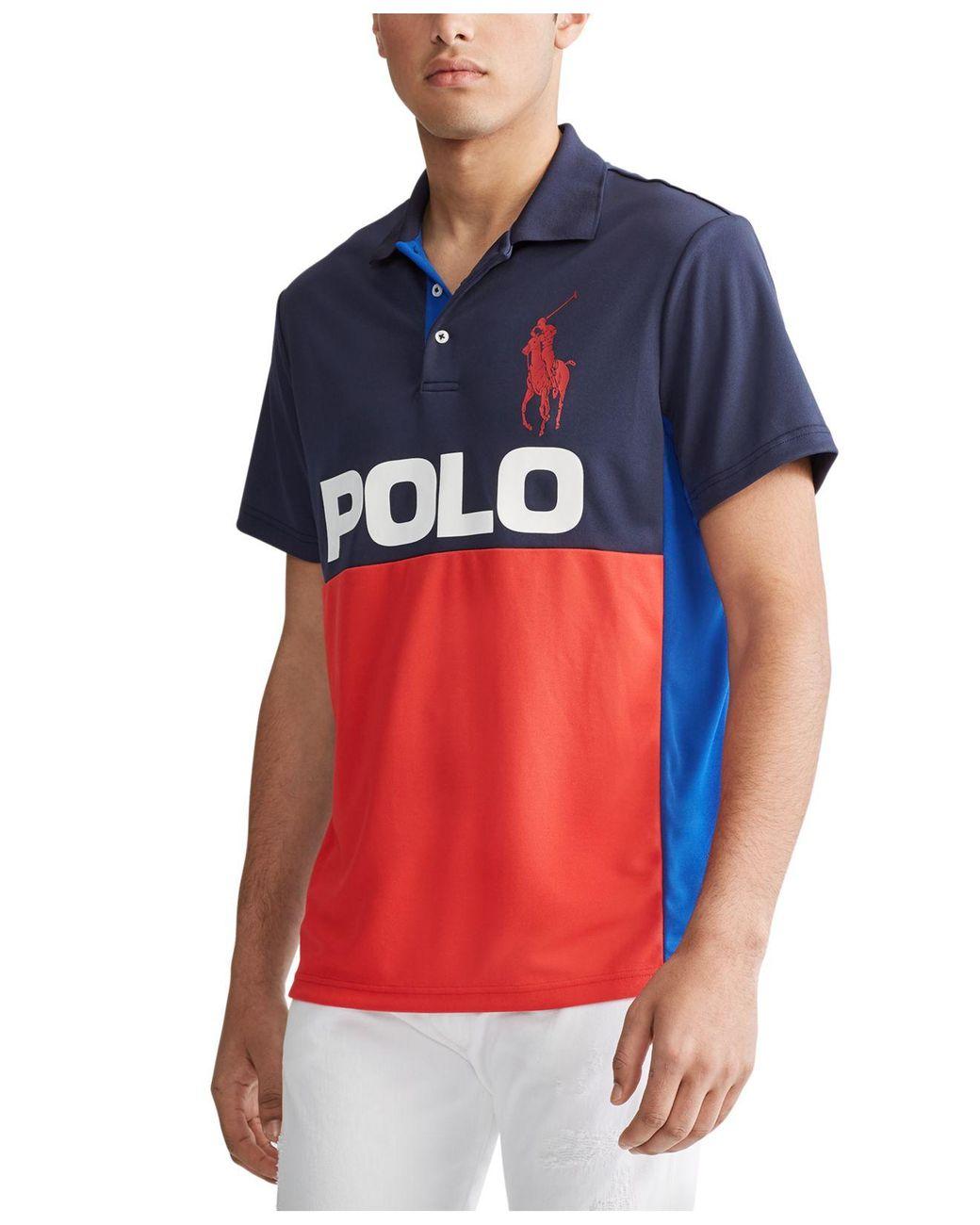NEW Polo Ralph Lauren Big and Tall Big Pony Performance Sweat Wicking Polo Shirt