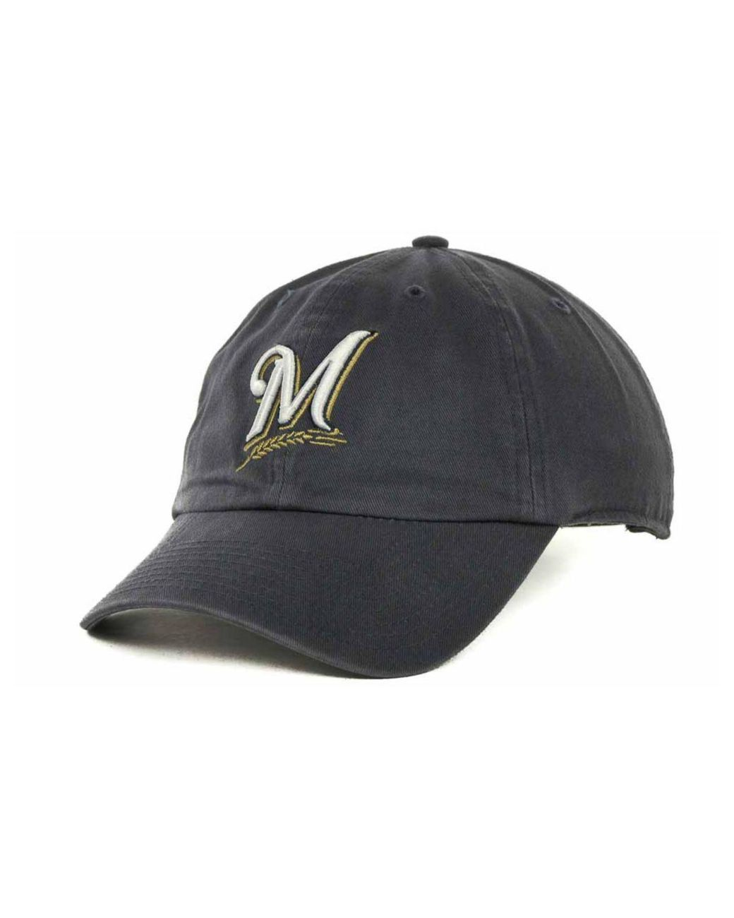 famous brand for whole family famous brand 47 Brand Cotton Milwaukee Brewers Mlb Clean Up Cap in Navy (Blue ...