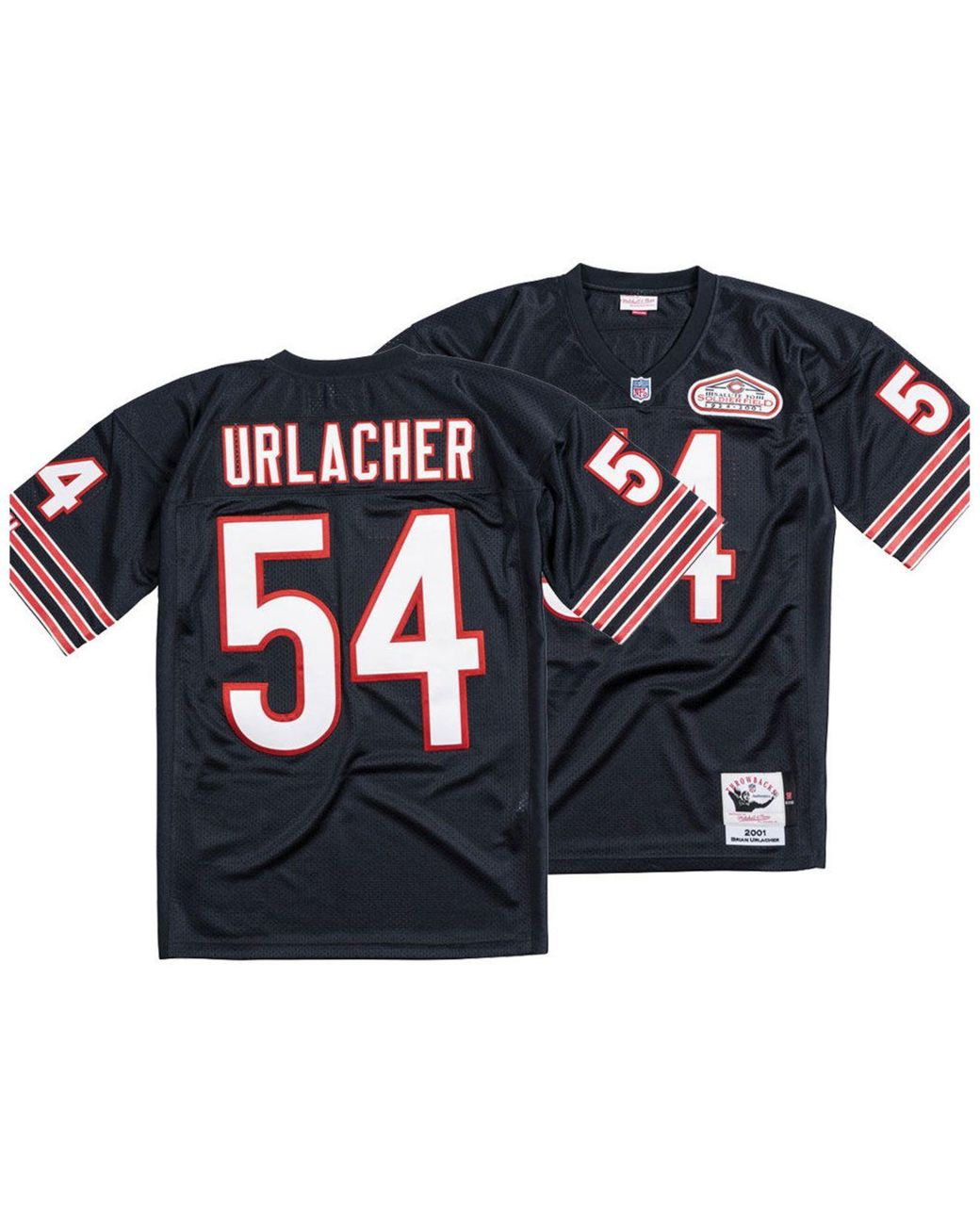 finest selection b585c 122fc Men's Blue Brian Urlacher Chicago Bears Authentic Football Jersey
