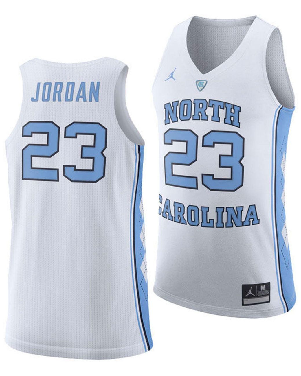 low priced c9a88 41559 Men's White Michael Jordan North Carolina Tar Heels Authentic Basketball  Jersey