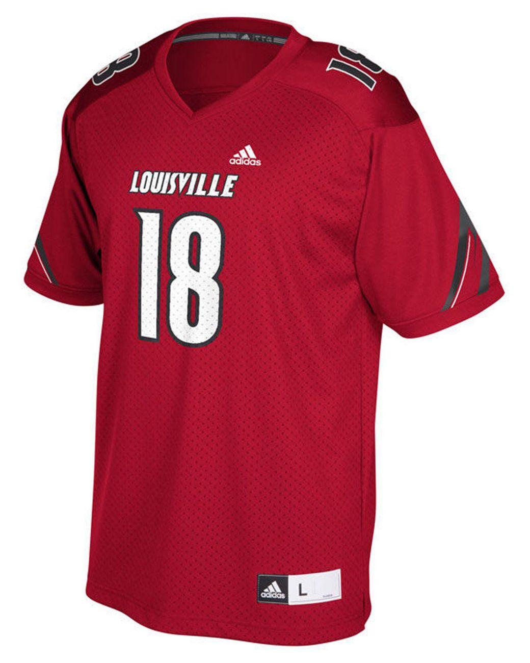 online retailer ac1e7 6a8ac Men's Red Louisville Cardinals Replica Football Jersey