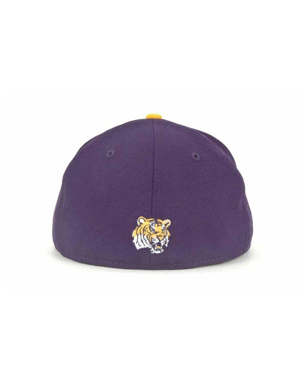 huge sale cute san francisco KTZ Wool Lsu Tigers Ncaa Ac 59fifty Cap in Purple for Men - Lyst