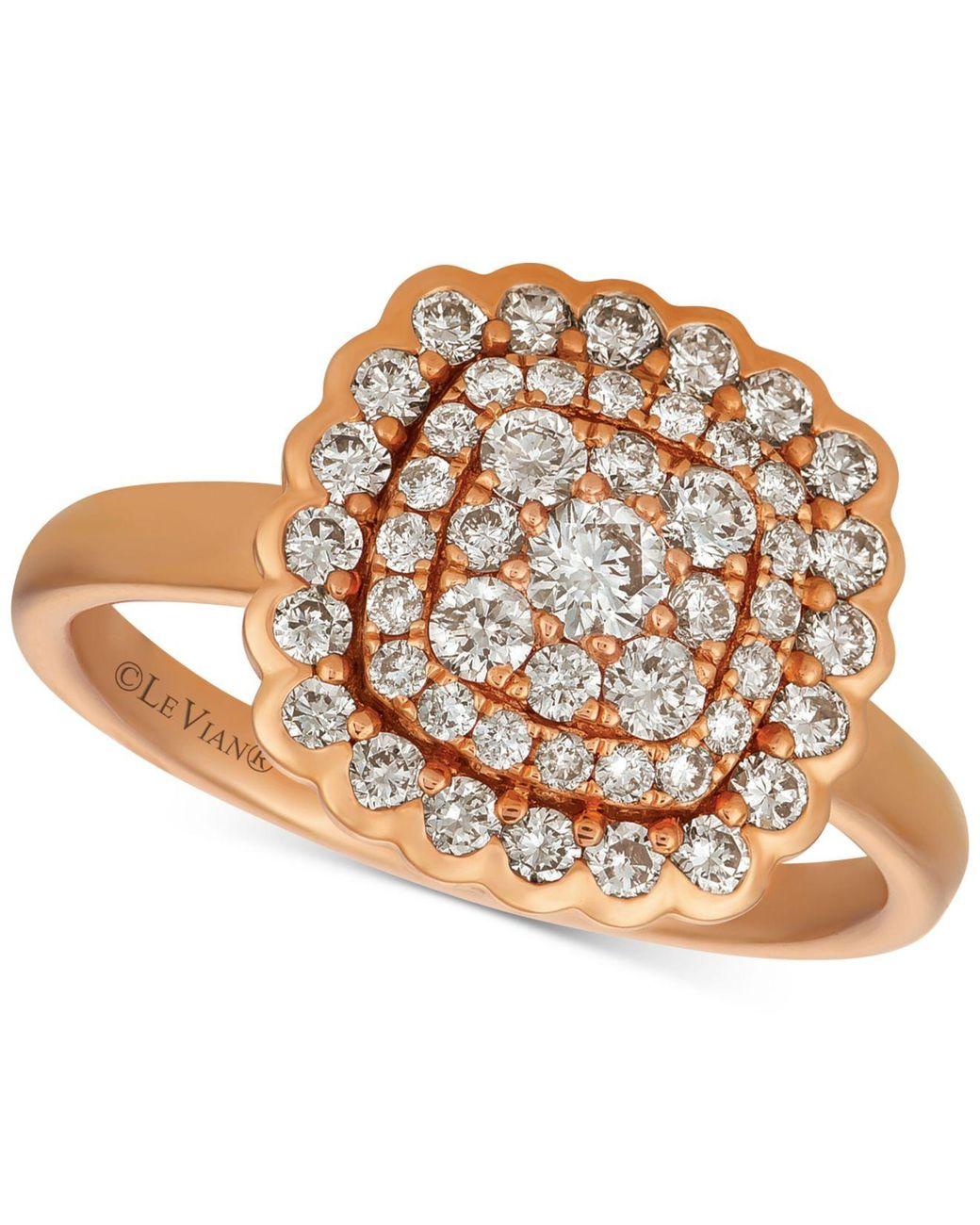 Le Vian Creme Brulee® Nude Diamond Chevron Statement Ring