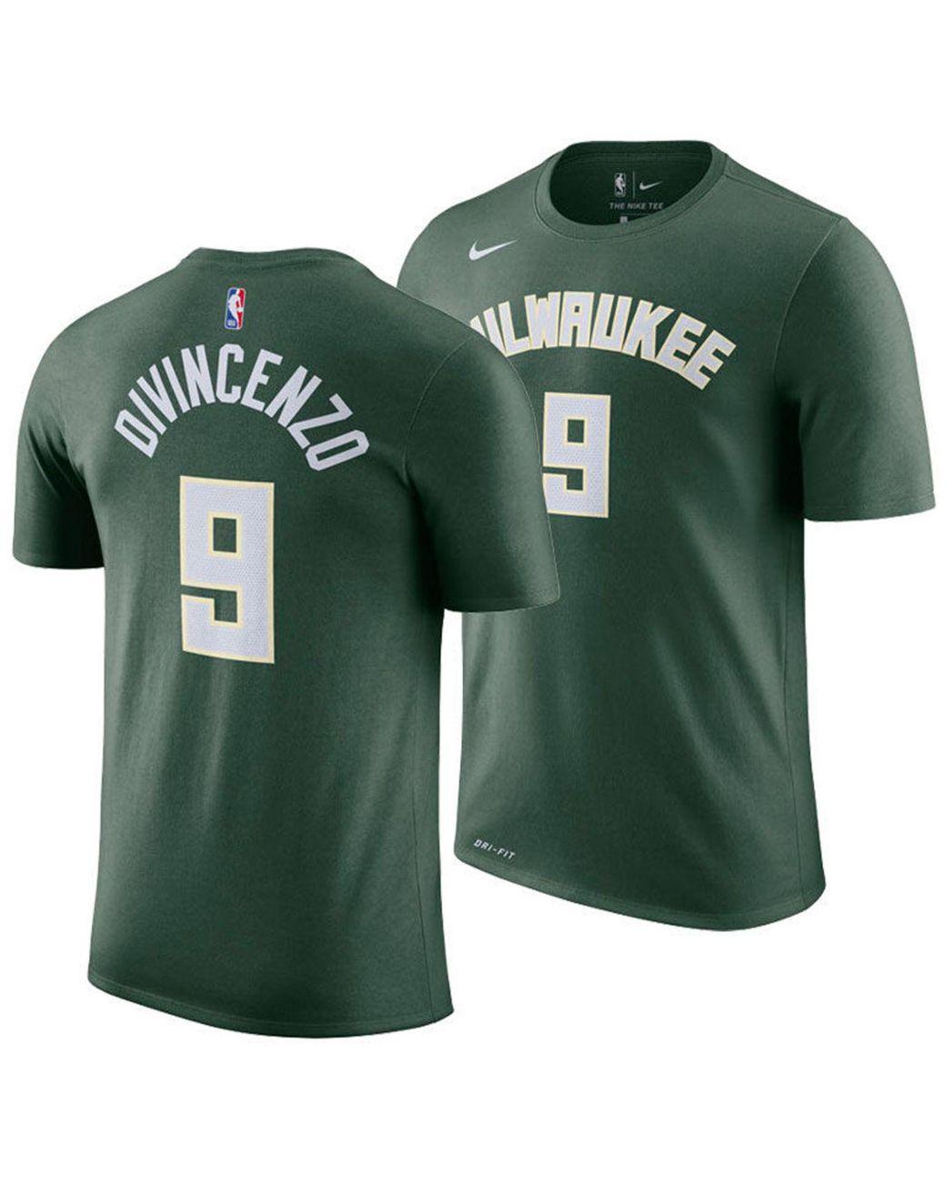 on sale e7c17 58dc6 Men's Green Donte Divincenzo Milwaukee Bucks Icon Player T-shirt