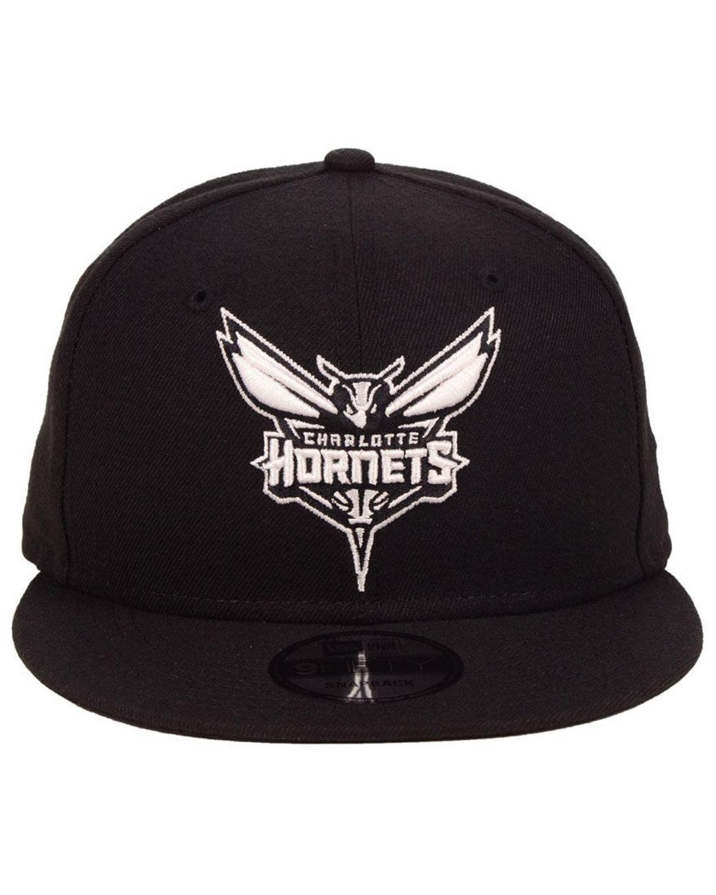factory outlet new images of shopping KTZ Synthetic Charlotte Hornets Black White 9fifty Snapback Cap ...