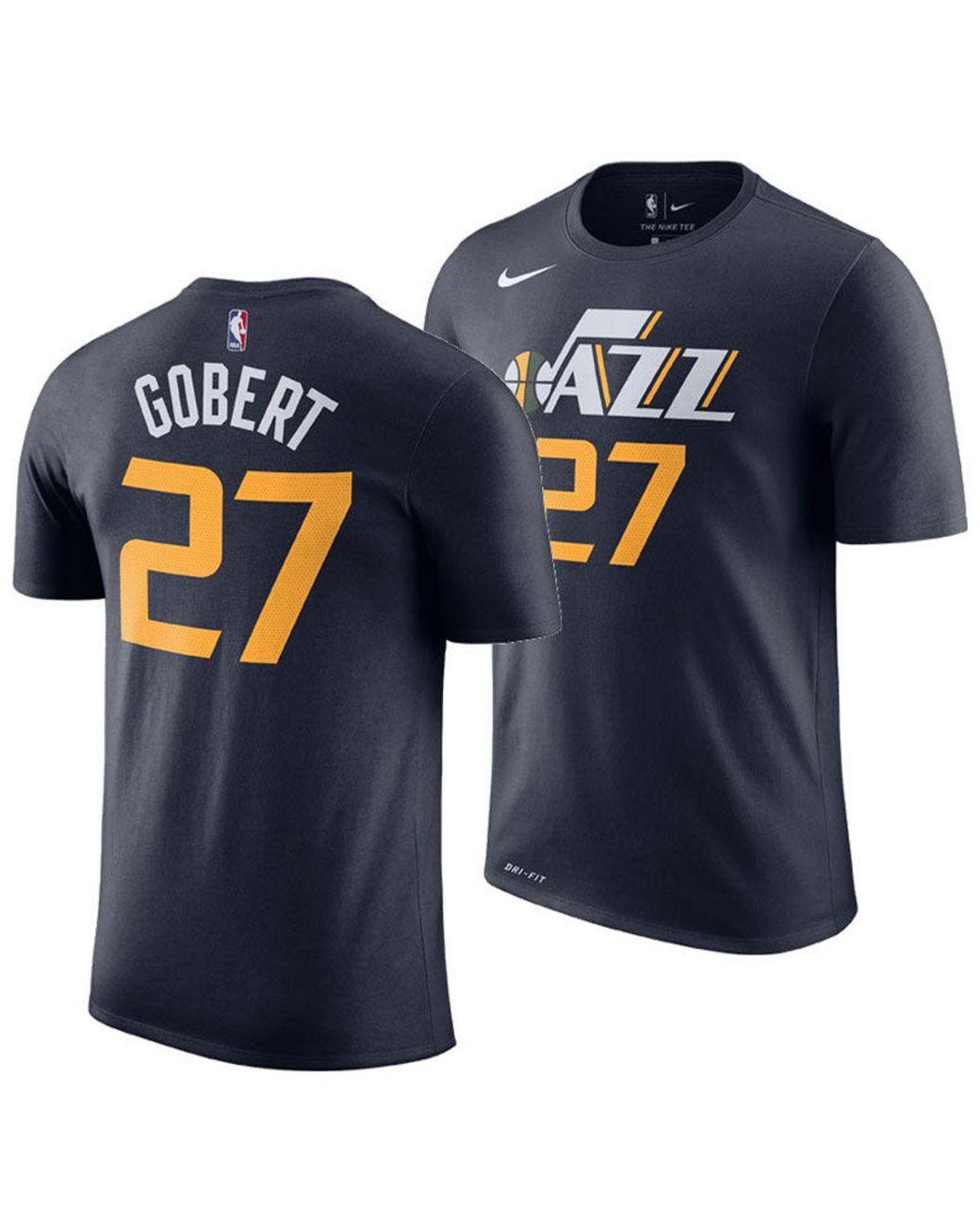 new products 05629 a81de Men's Blue Rudy Gobert Utah Jazz Icon Player T-shirt