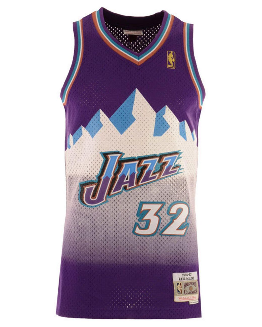 buy online 36d2b fca6f Men's Purple John Stockton Utah Jazz Hardwood Classic Swingman Jersey