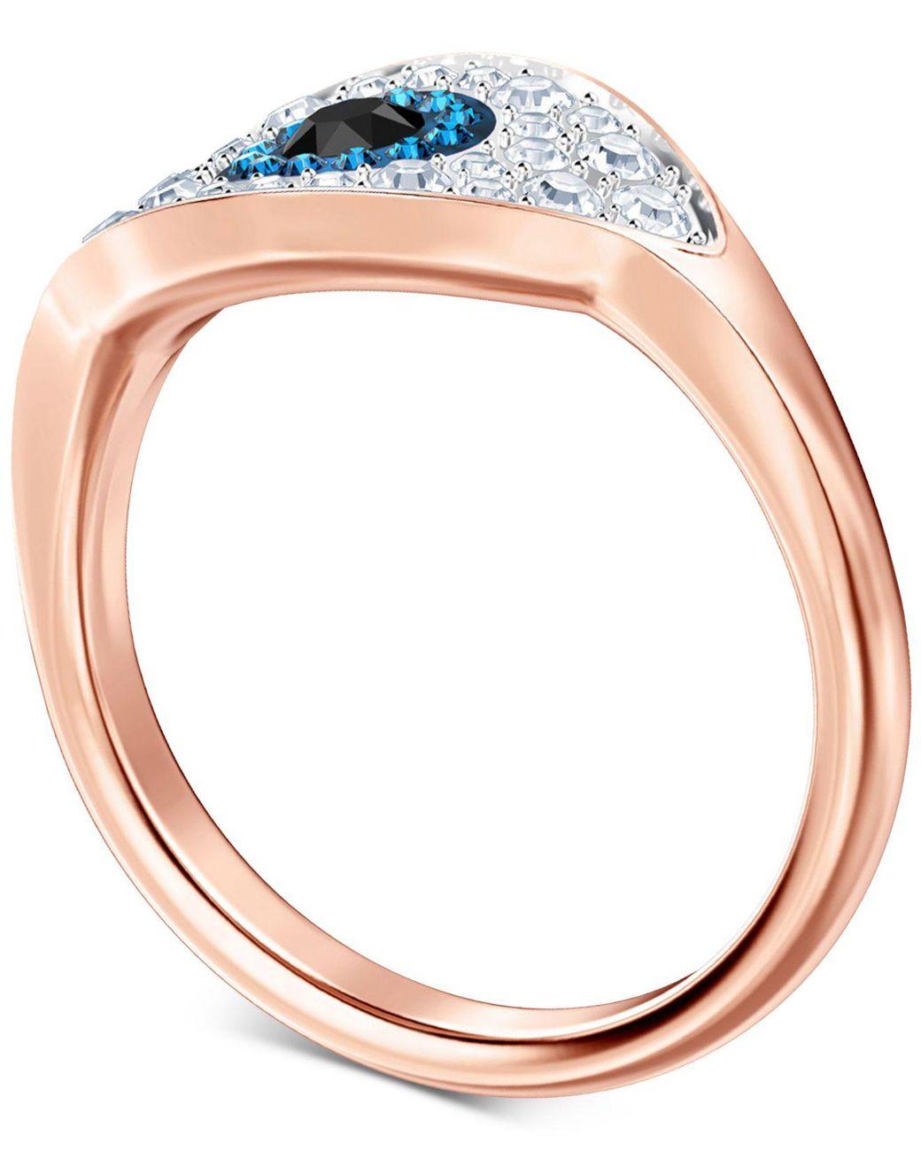 Swarovski Symbolic Evil Eye Ring Save 35 Lyst