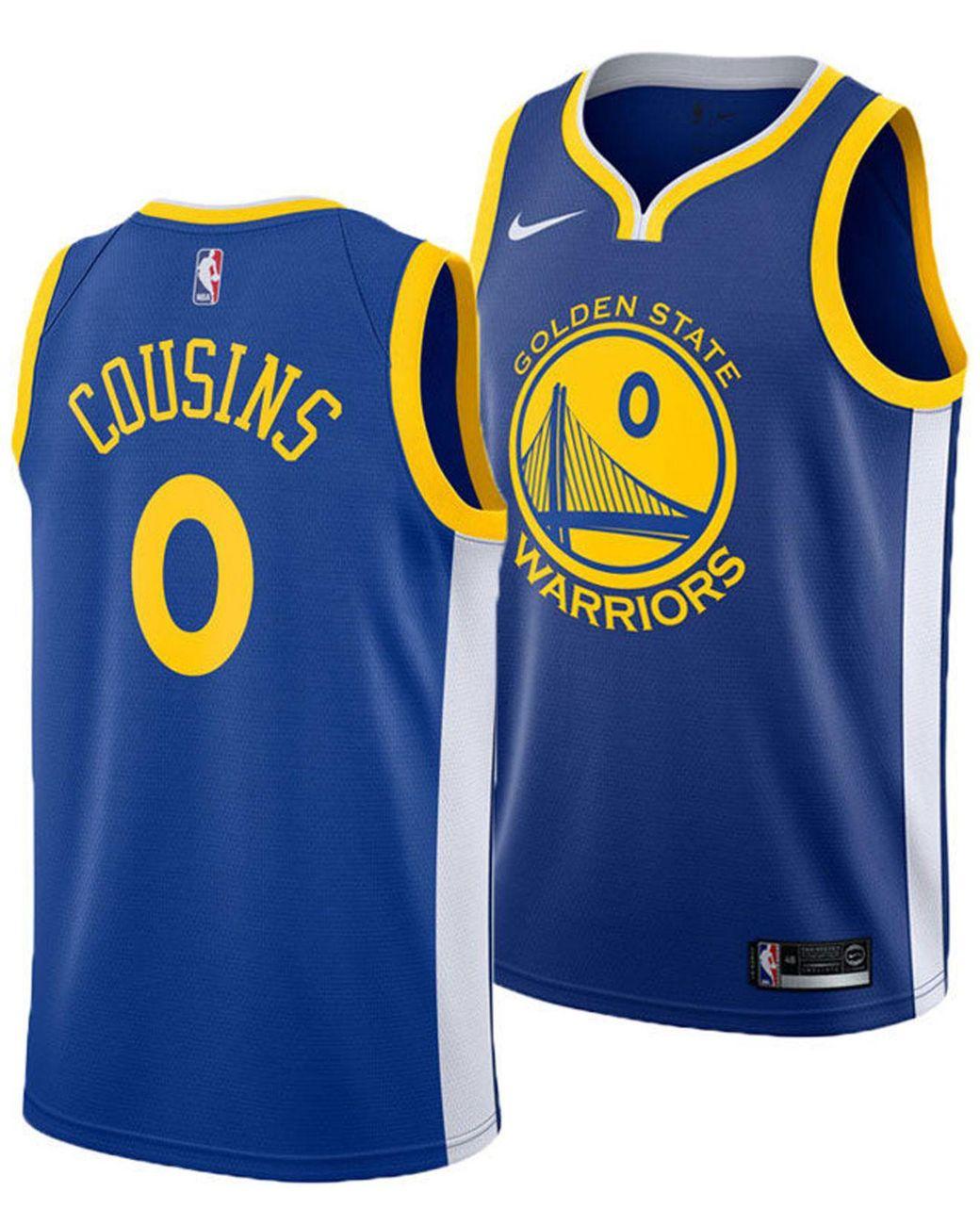 brand new a3f17 92e27 Men's Blue Demarcus Cousins Golden State Warriors Icon Swingman Jersey