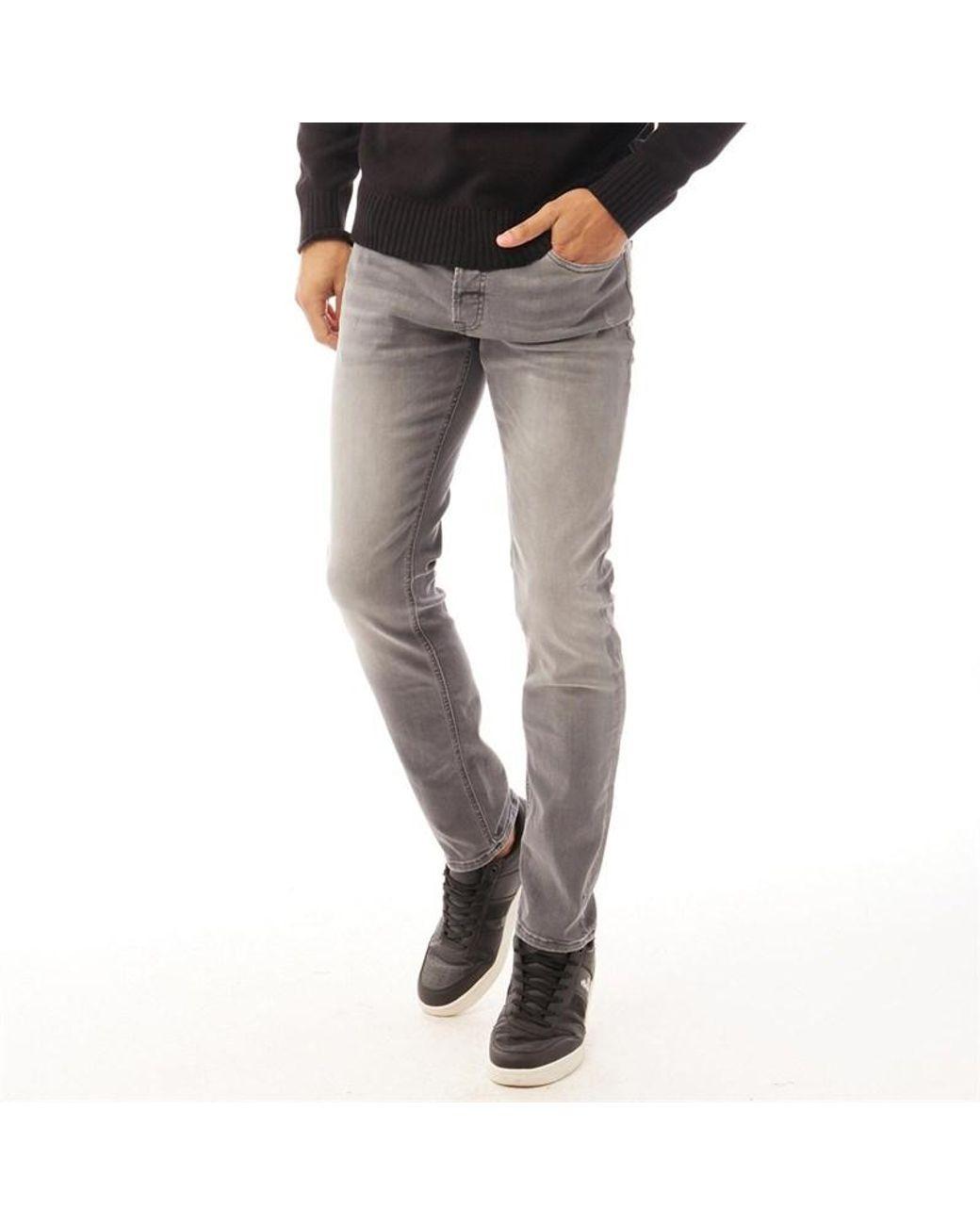 Jack /& Jones Glenn Originals Jeans en Bleu 5 poches-effet vieilli