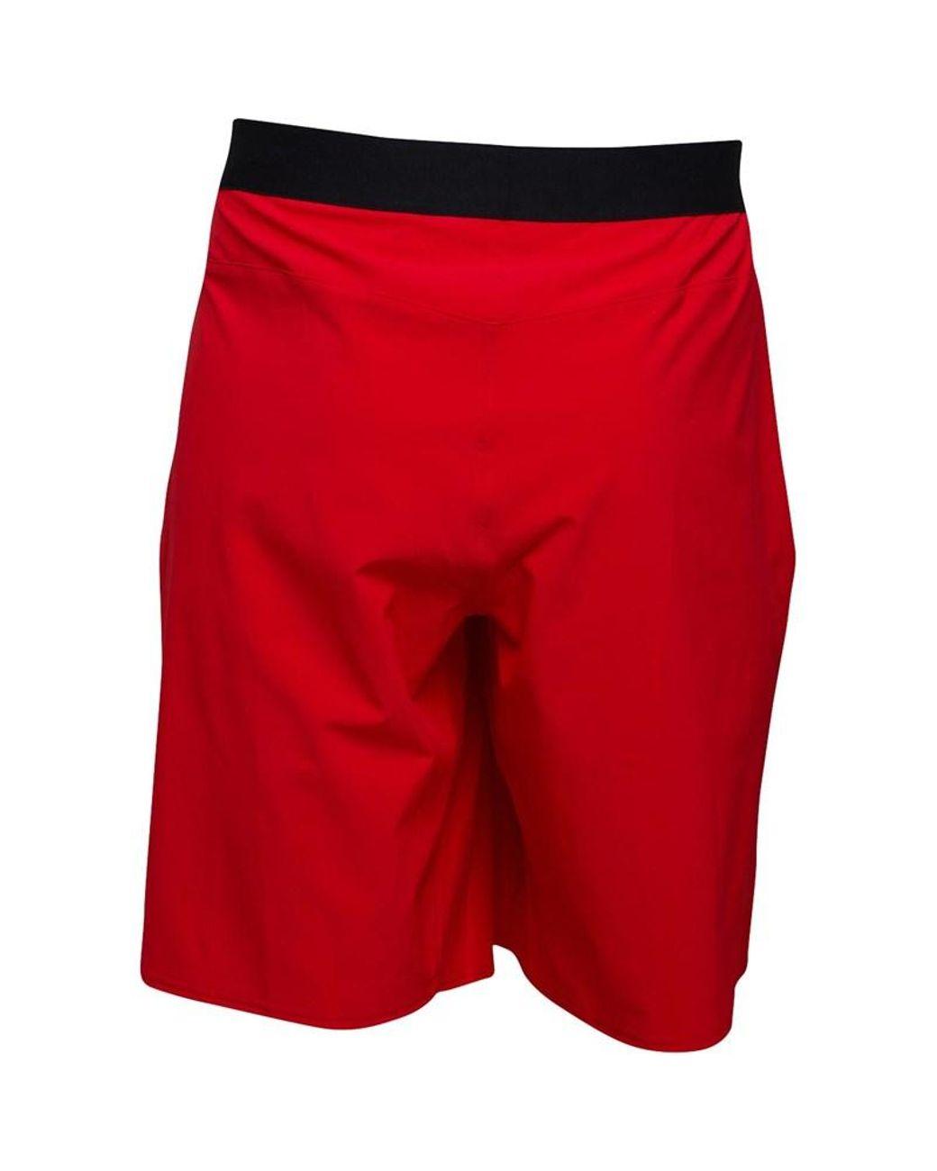 REEBOK Mens Shorts Soccer Tights Red Boxer Compression Crossfit L XL CD1220