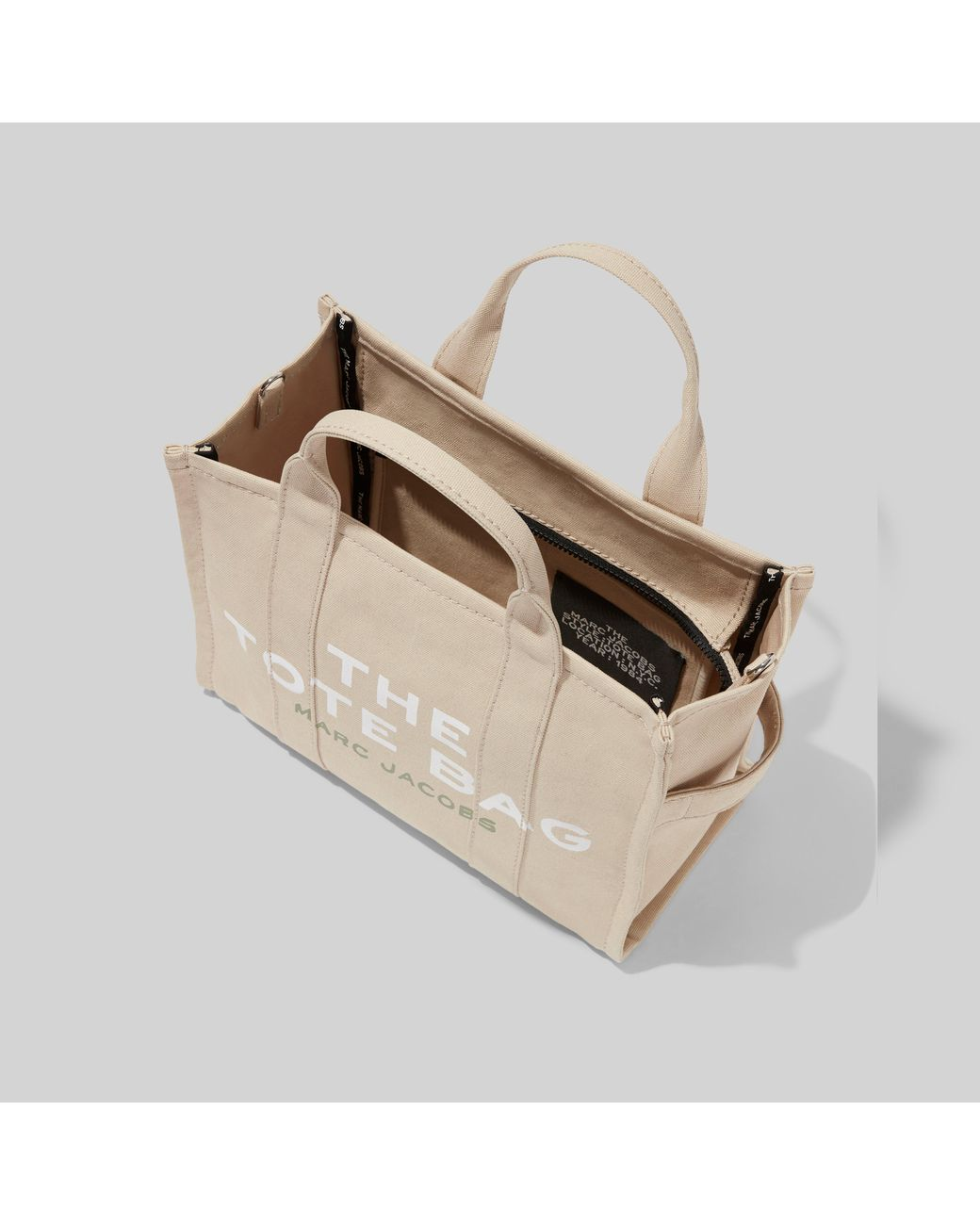 Marc Jacobs Cotton The Small Traveller Tote Bag in Beige (Natural ...