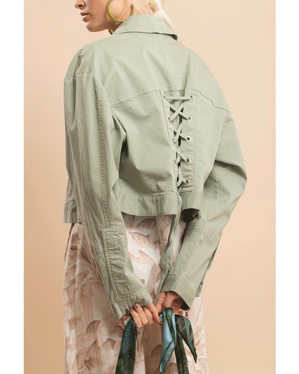 Jonathan Simkhai Womens Long Sleeve Embroidered Beaded Crop Jacket White Size 2