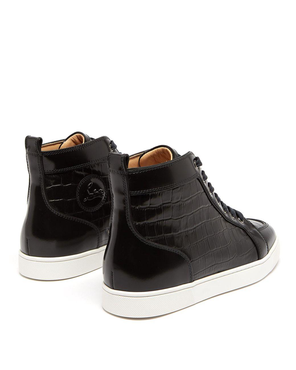 acheter populaire 9ad5e d3b2d Baskets montantes en cuir effet crocodile Rantus homme de coloris noir