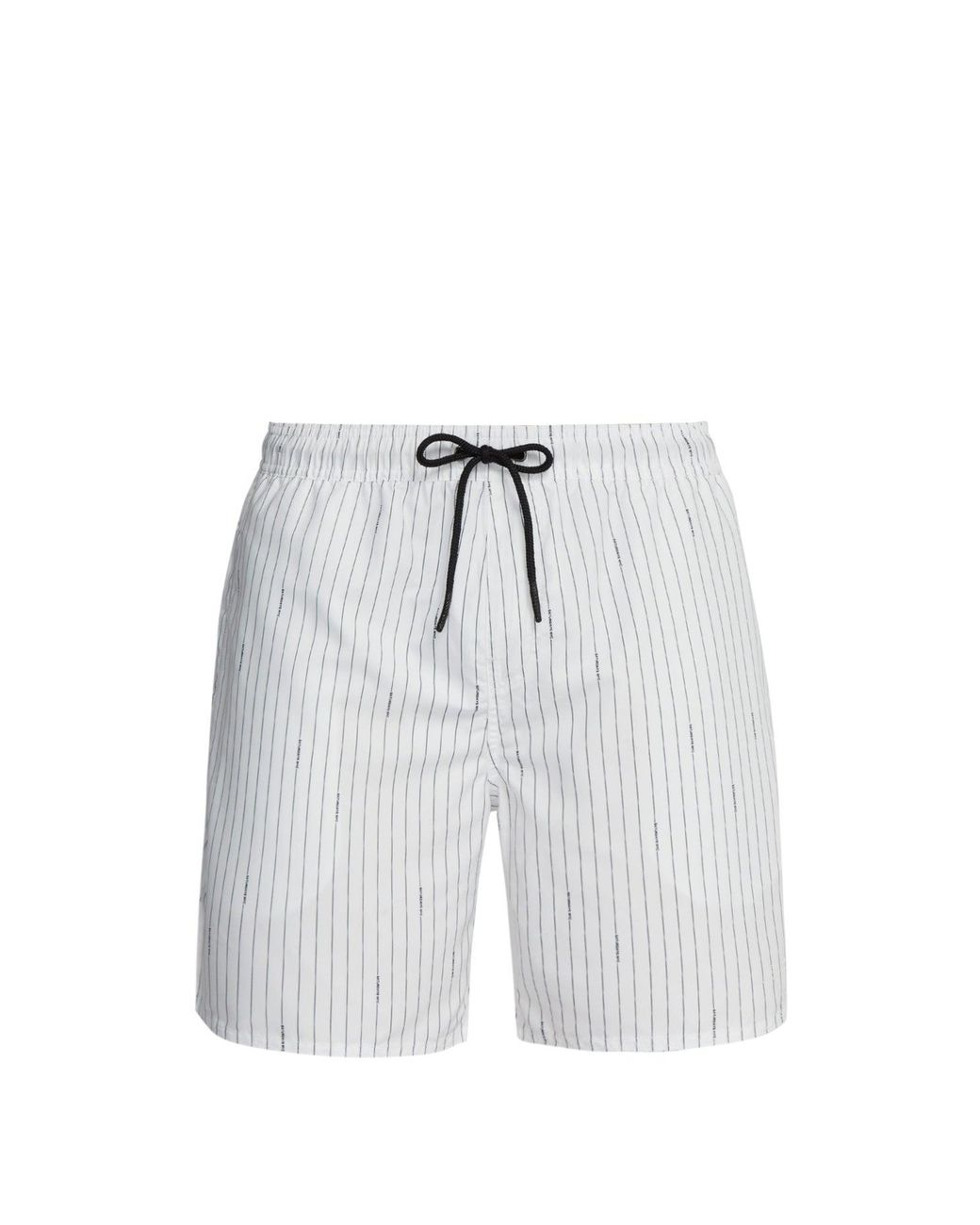 JERECY Mens Swim Trunks Geometric Orange White Polka Dot Quick Dry Board Shorts with Drawstring and Pockets