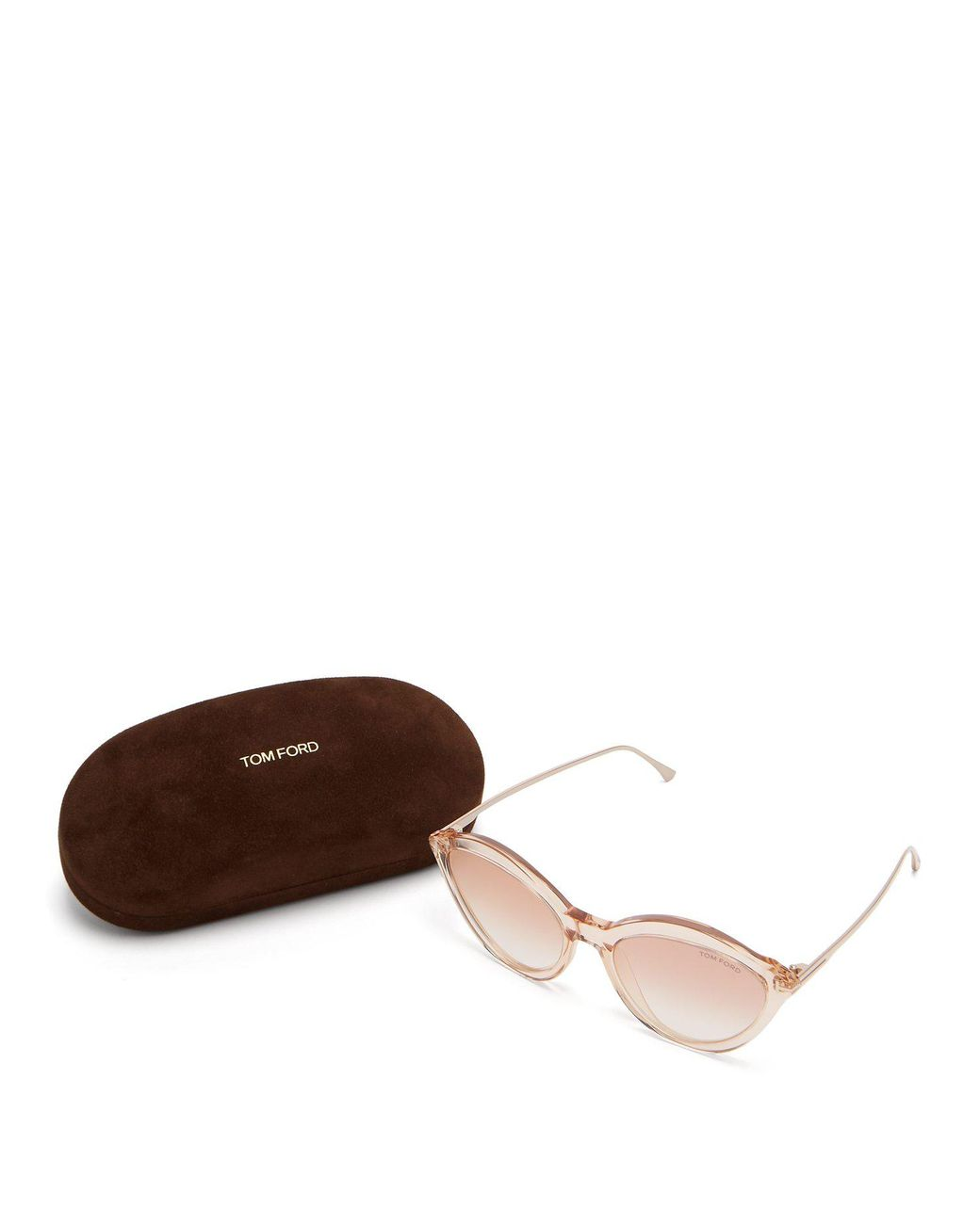 072f2aff9a669 Tom Ford Slater Cat Eye Acetate Sunglasses in Brown - Lyst