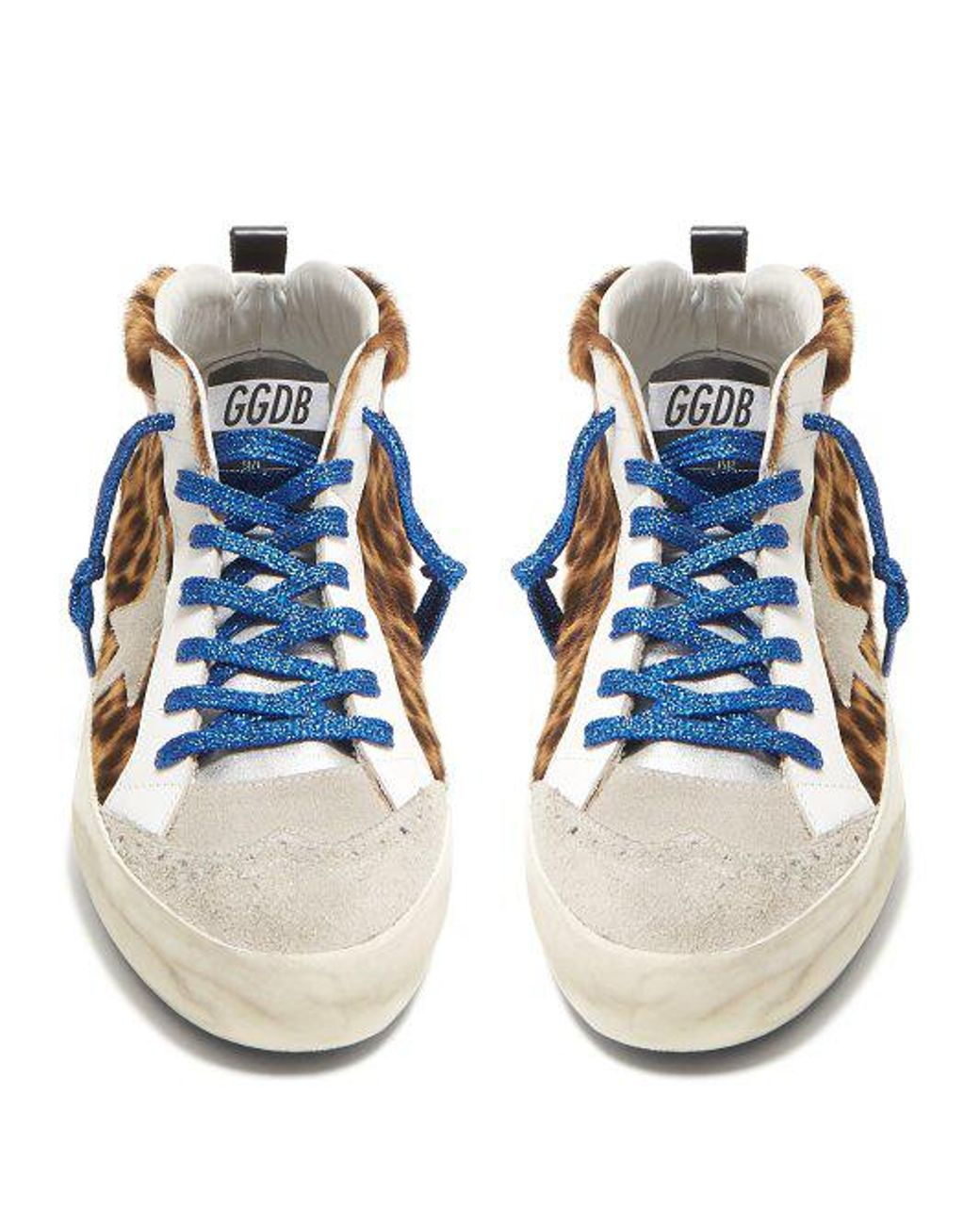 ee92291083ac golden goose deluxe brand women s blue midstar suede and leather trainers