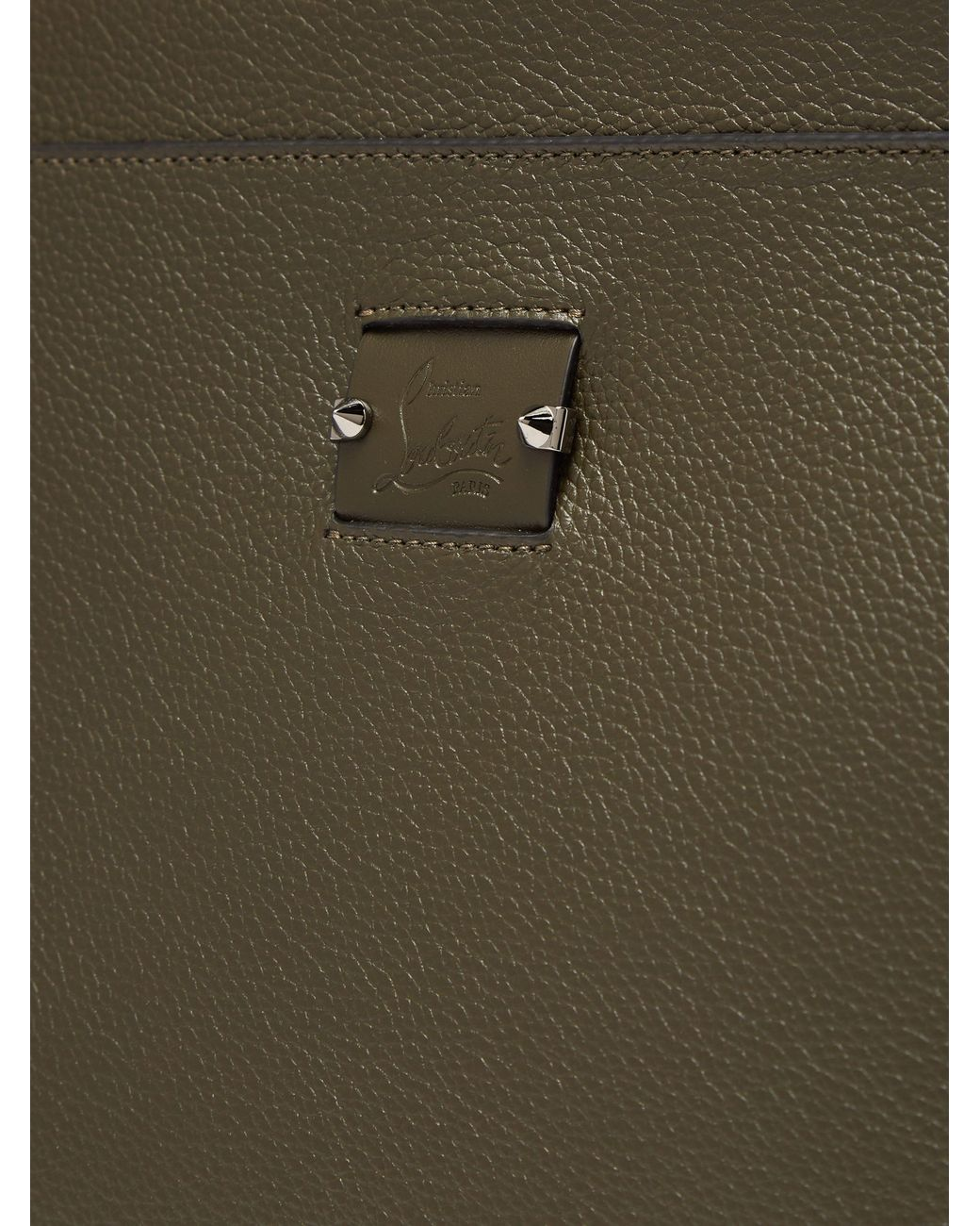 17b9641ca8 Christian Louboutin Skypouch Loubicity Stud Embellished Leather Pouch for  Men - Lyst