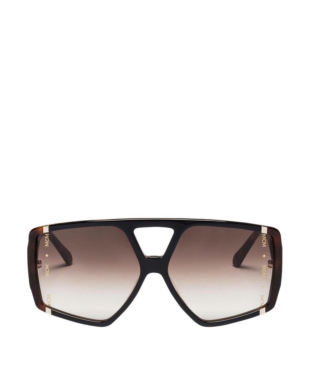 b338170b8cb Long-Touch to Zoom. Long-Touch to Zoom. 1  2  3  4  5. MCM - Brown Square  Logo Plaque Sunglasses ...
