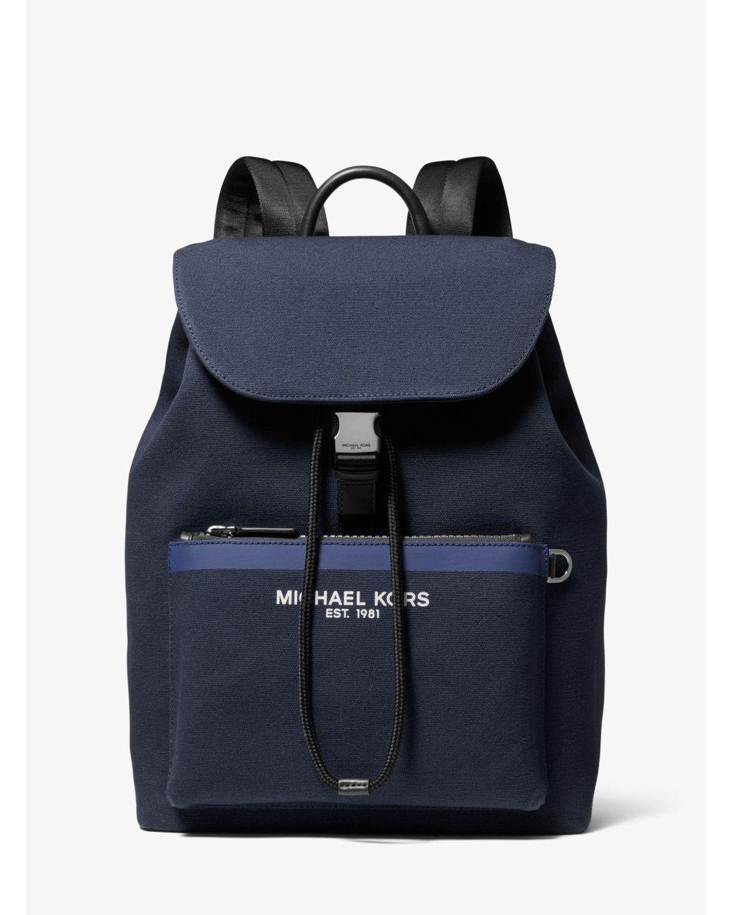 1ffd4c9e89de Lyst - Michael Kors Greyson Canvas Backpack in Blue for Men