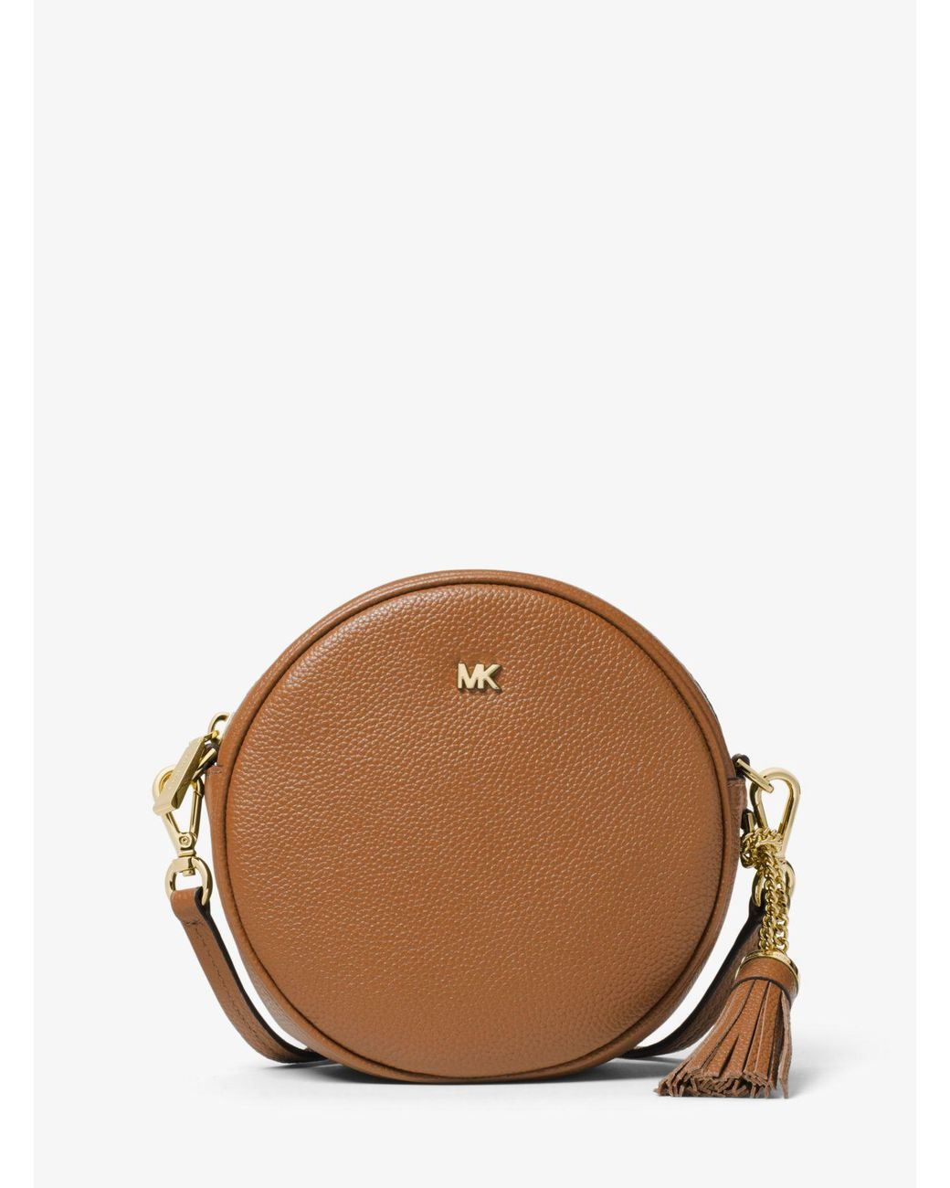 39d05a4b538532 Lyst - MICHAEL Michael Kors Pebbled Leather Canteen Crossbody in Brown