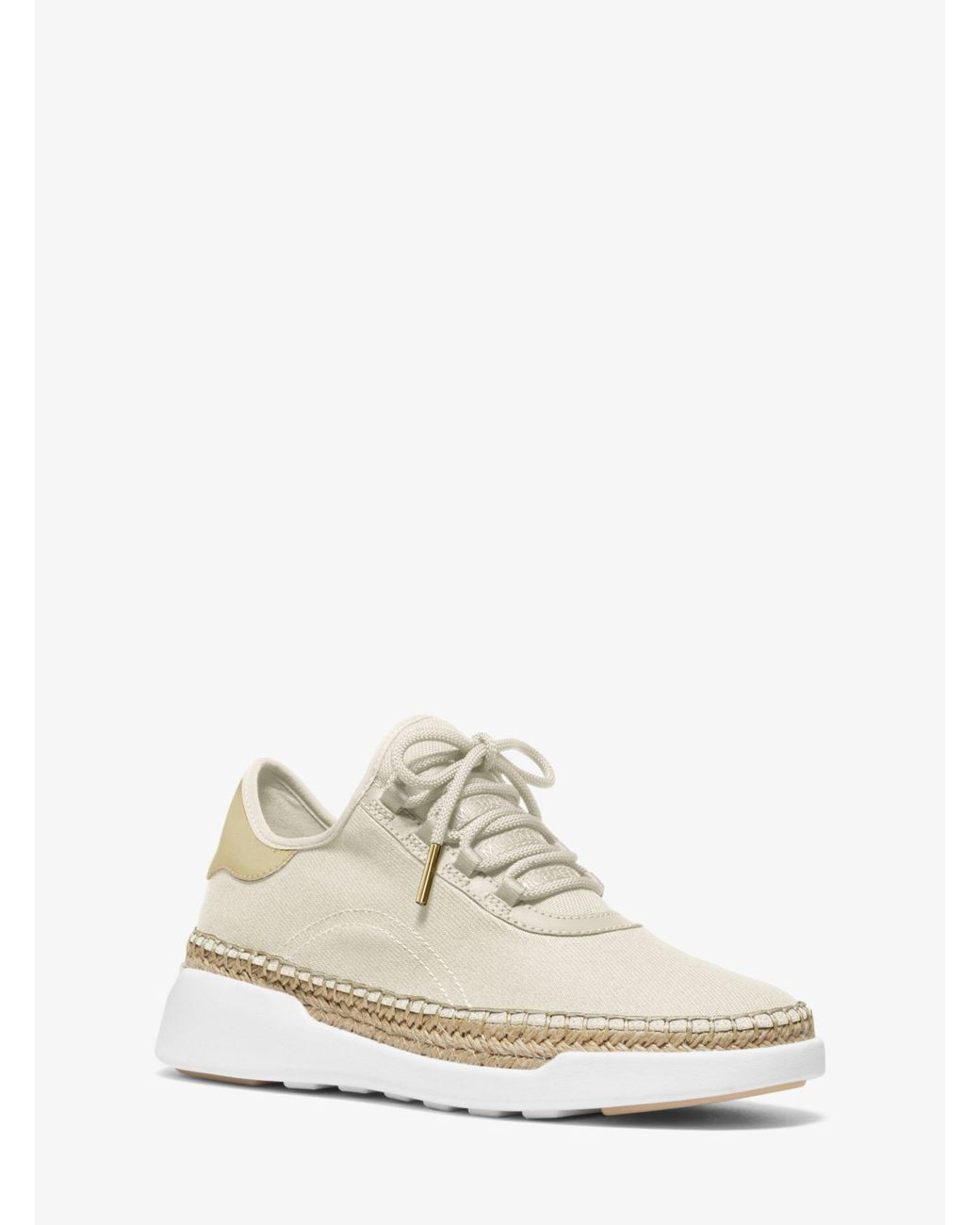 a49313c10b09 Lyst - MICHAEL Michael Kors Finch Canvas And Leather Lace-up Sneaker ...