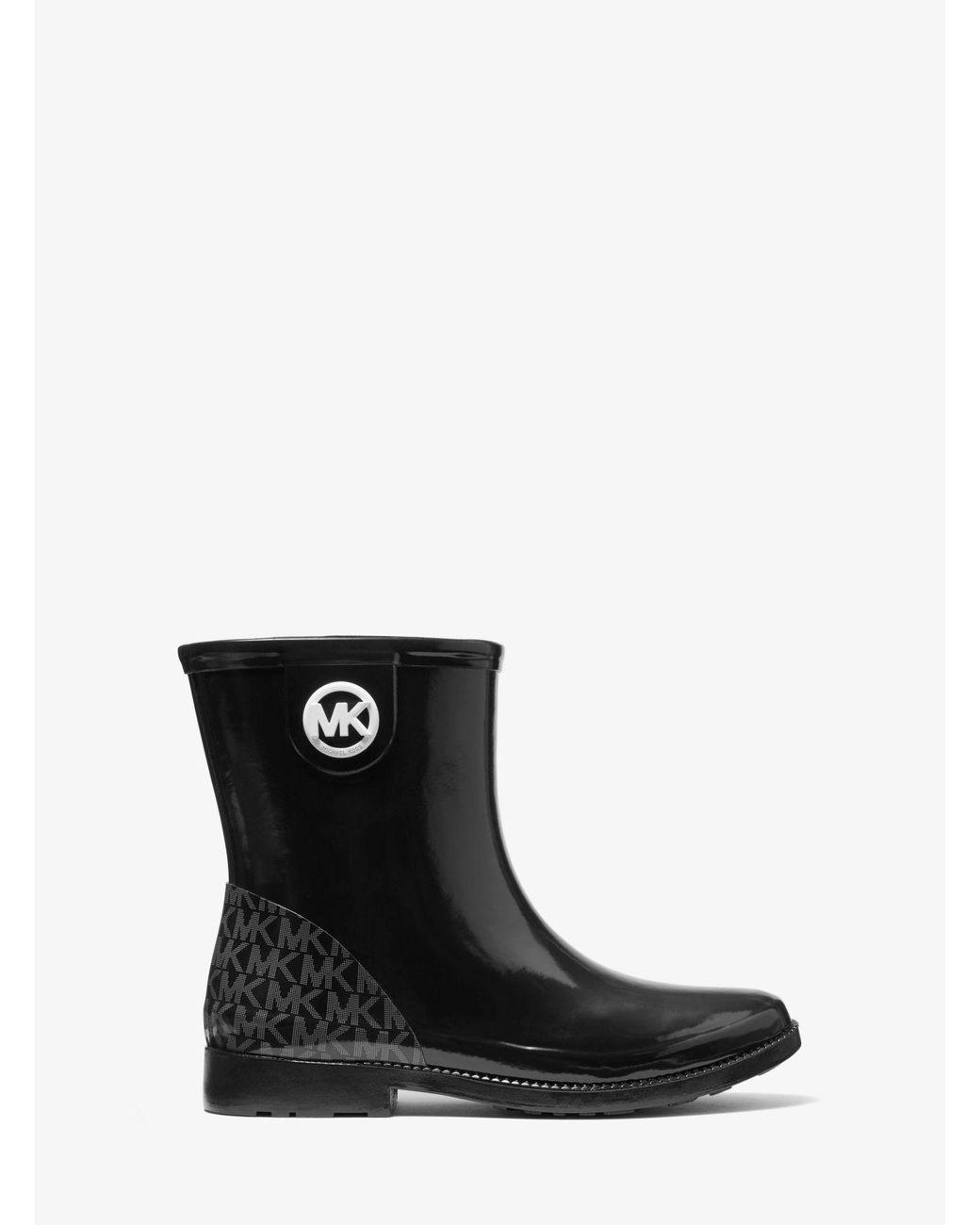 Michael Kors Denim Benji Logo Rain Boot