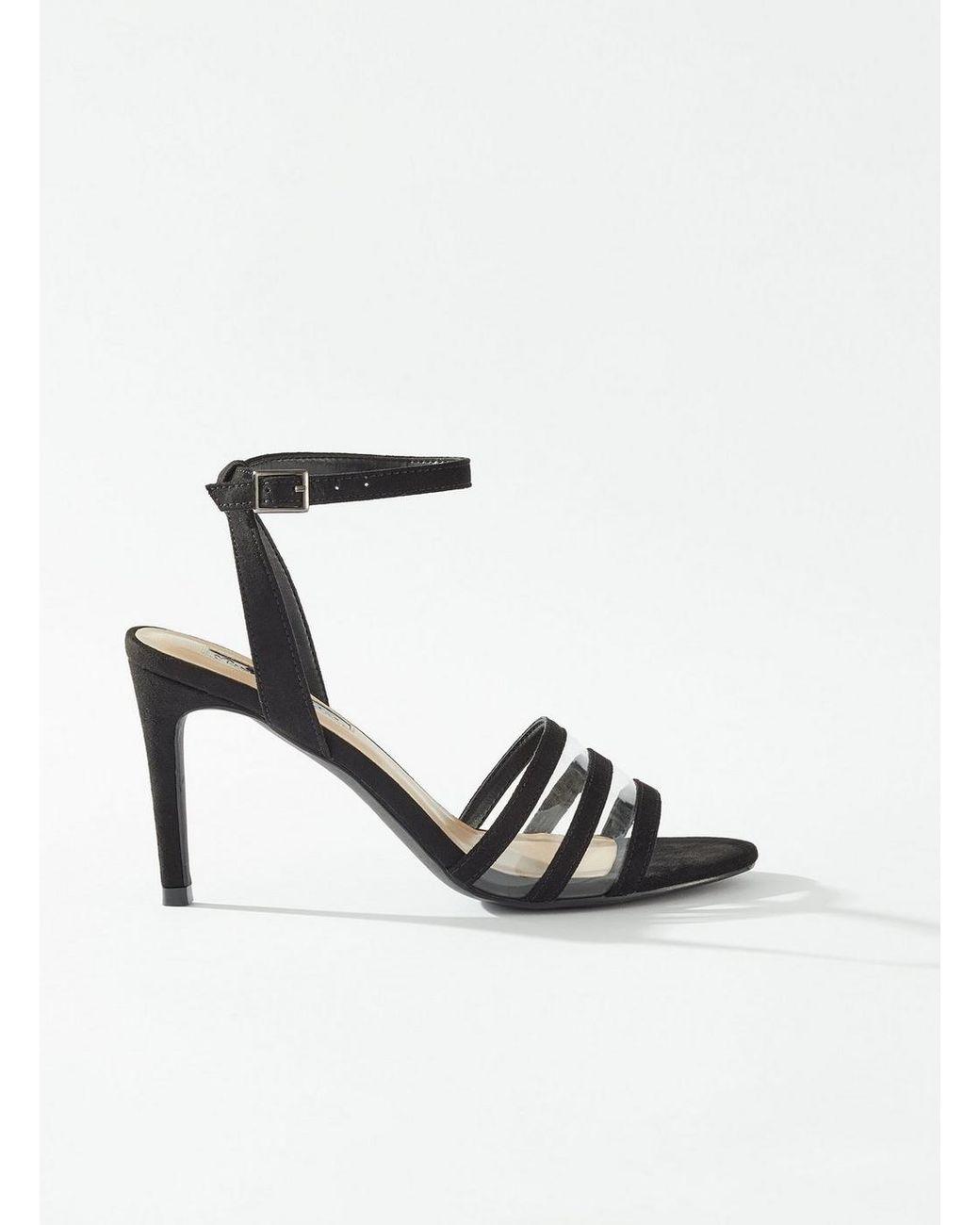 d742dbc7de2 Women's Sentara Black Perspex Heeled Sandals