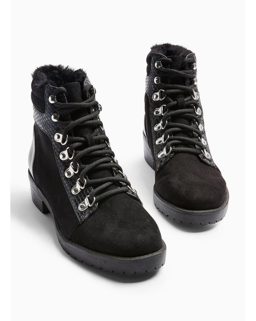 miss selfridge lace up boots