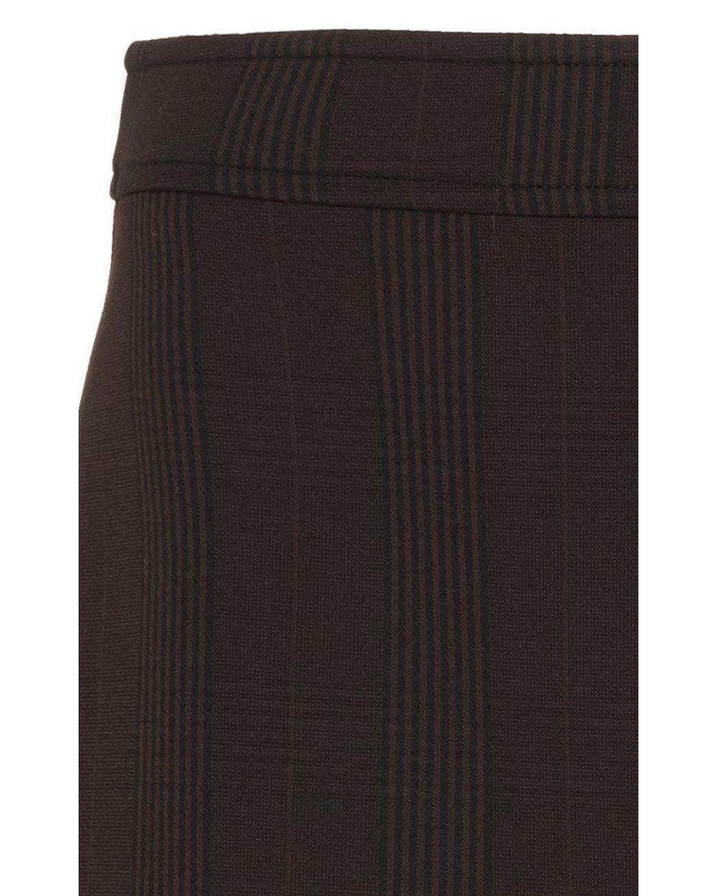 695e5ce0c Ganni Plaid Stretch-crepe Mini Skirt in Brown - Lyst