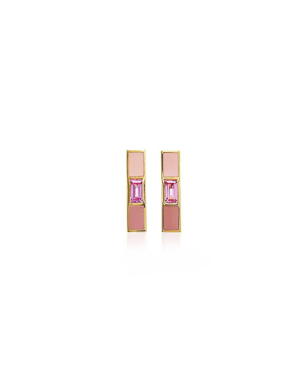 Heart and Butterfly Girls Dangle Earrings Ivy and Max Gold Finish Pink Purple and Blue Enamel Flower