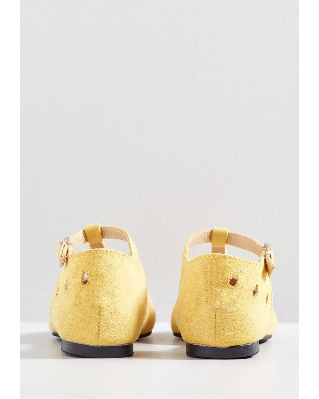 ac35f0976e ModCloth The Zest Is History T-strap Flat in Yellow - Lyst