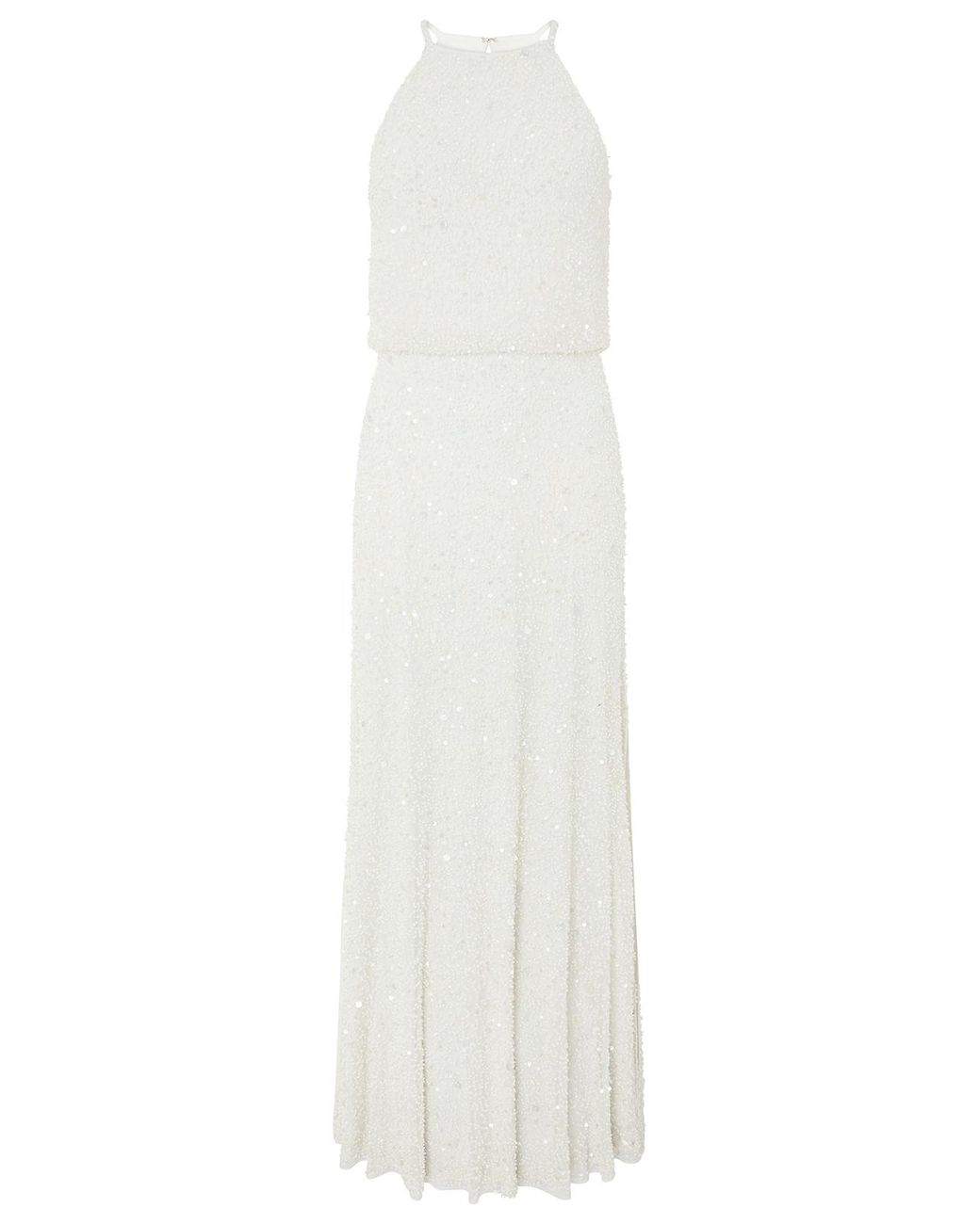 df42b09e69 Monsoon Diana Embellished Bridal Maxi Dress in White - Lyst