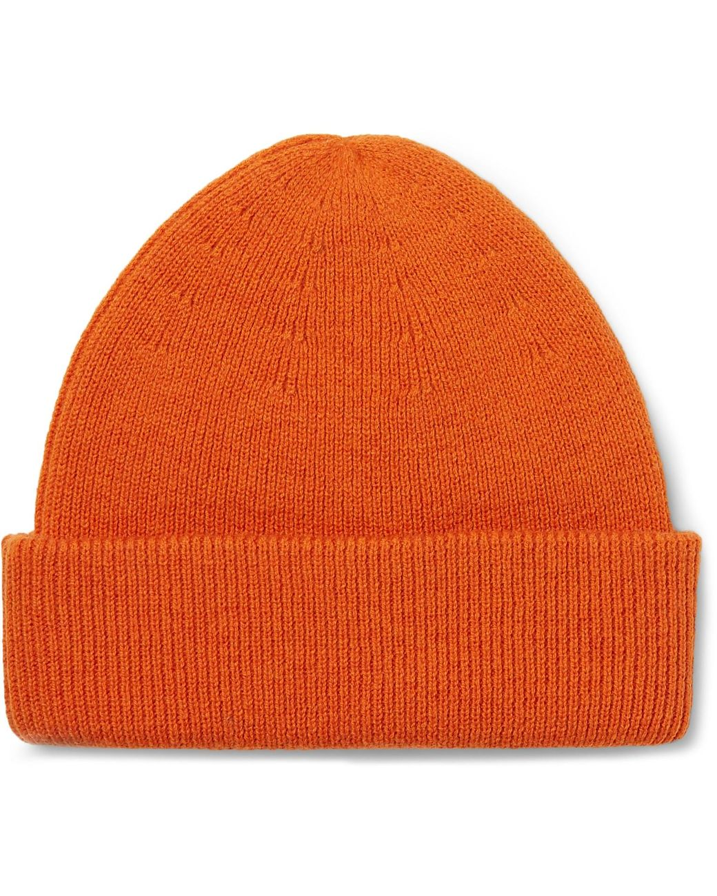 babfd0649 Men's Orange Cap Of Courage Ribbed Merino Wool Beanie