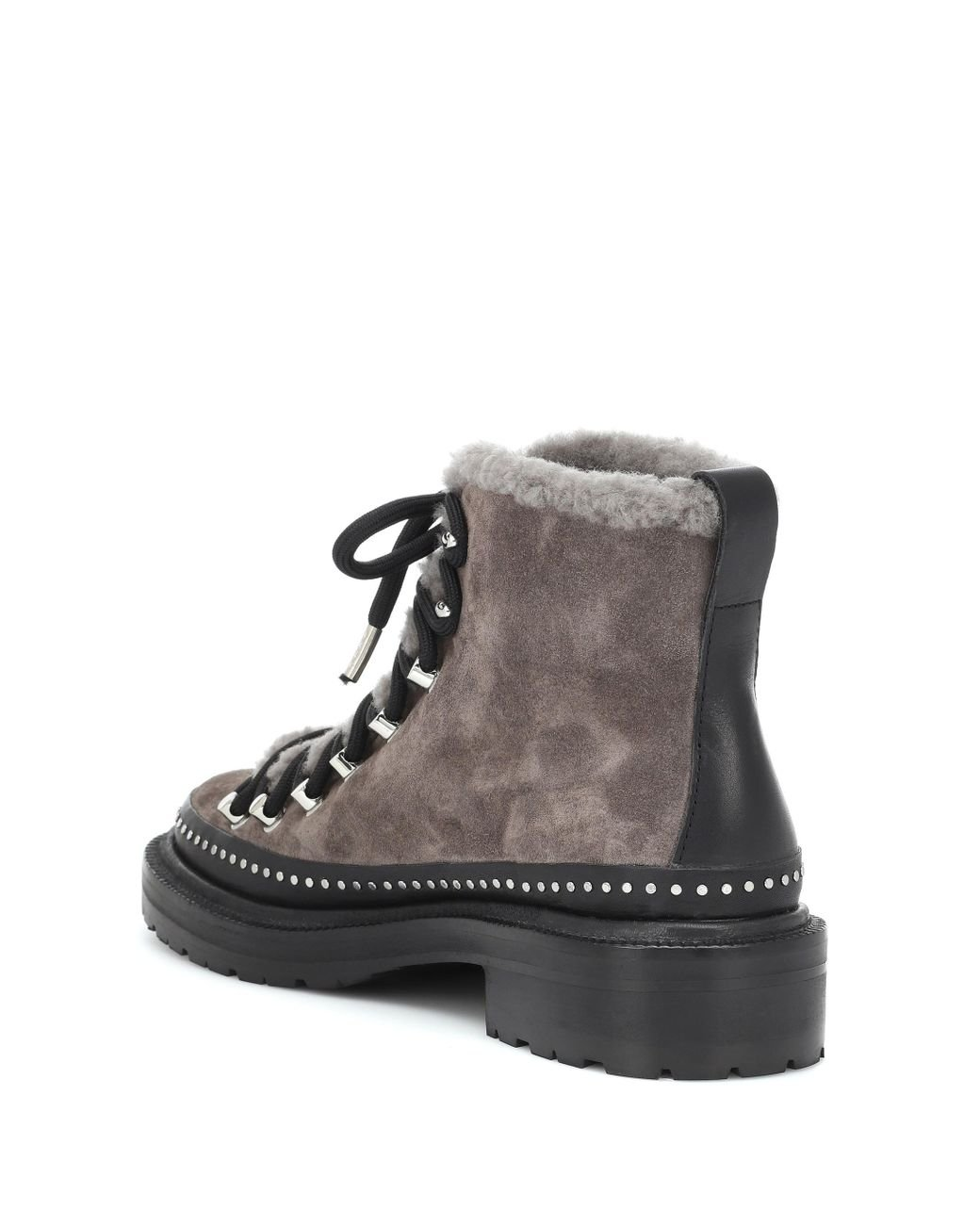 872fe71b503 Women's Gray Compass Suede Ankle Boots