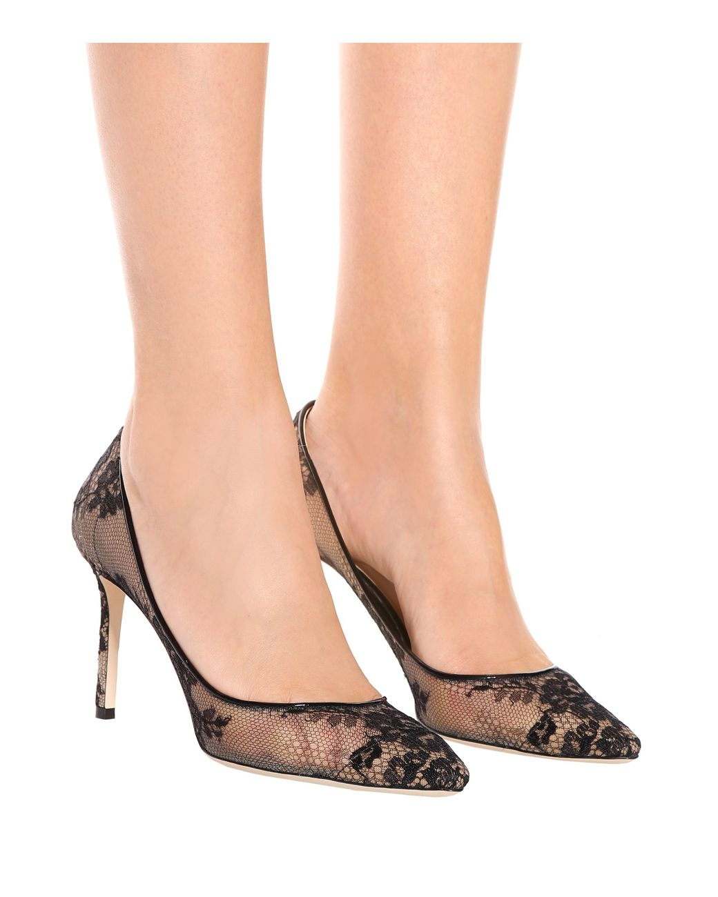 40203556490ce Jimmy Choo Romy 85 Lace Pumps - Save 30% - Lyst