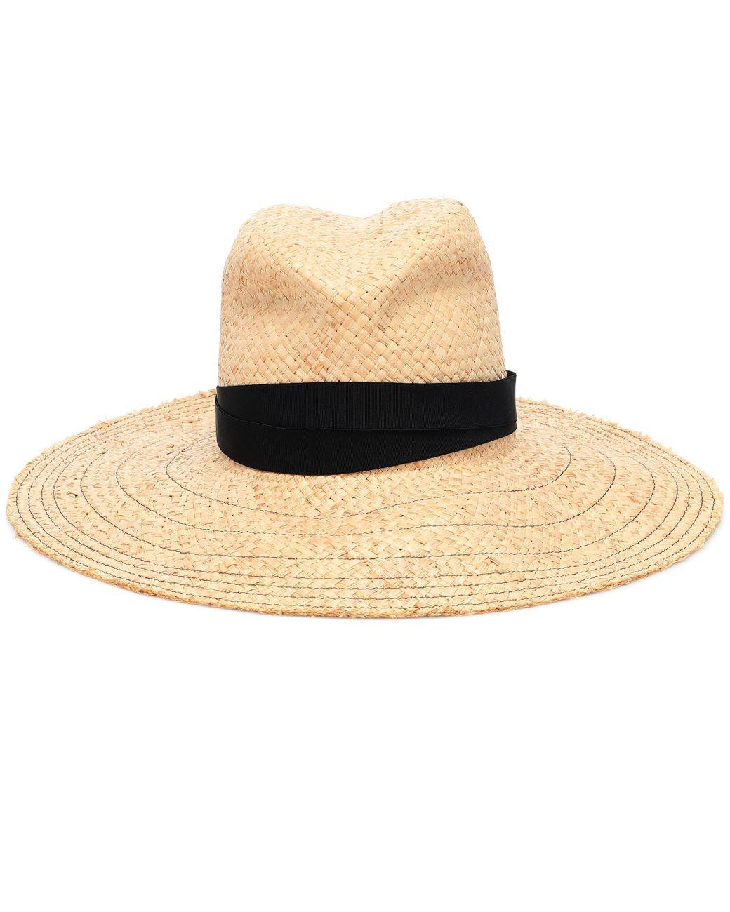 6499ba9427c Lola Hats Snap First Aid Raffia Hat in Black - Lyst