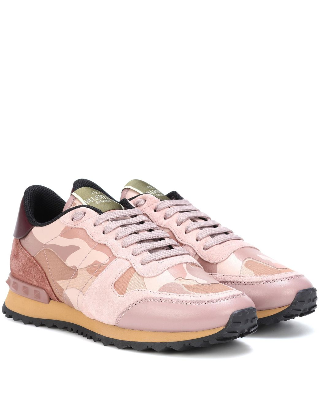 Valentino Leather Camouflage Sneakers