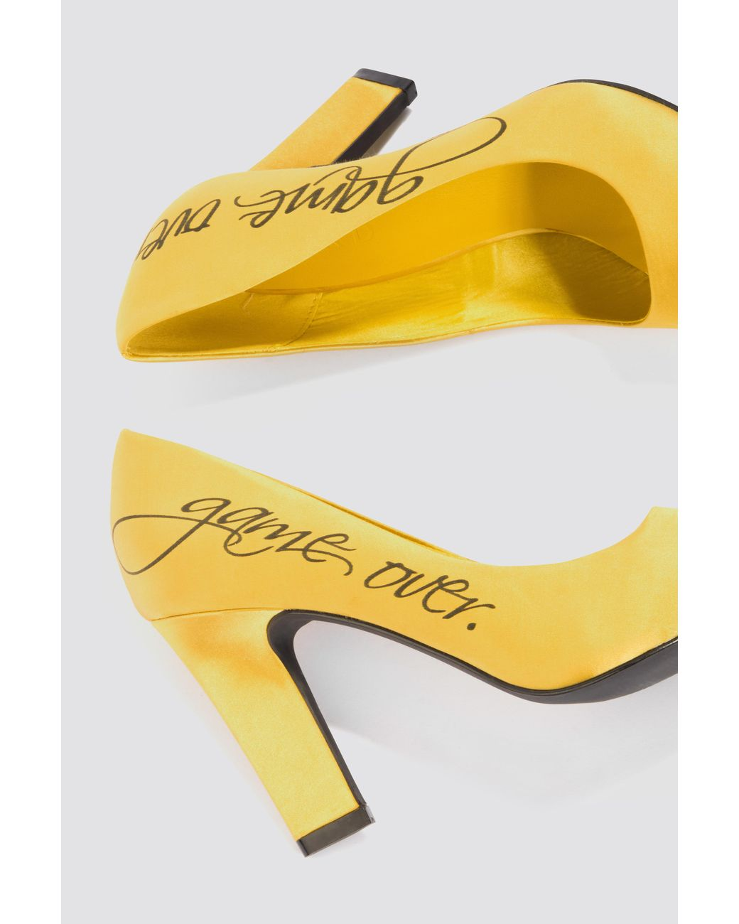 ff52270a0c1 Women's Game Over Satin Pumps Yellow