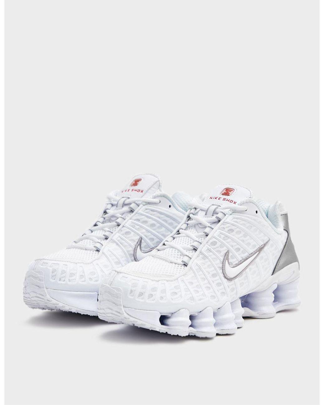 online store df502 15f97 Nike Shox Tl Sneaker in White - Lyst