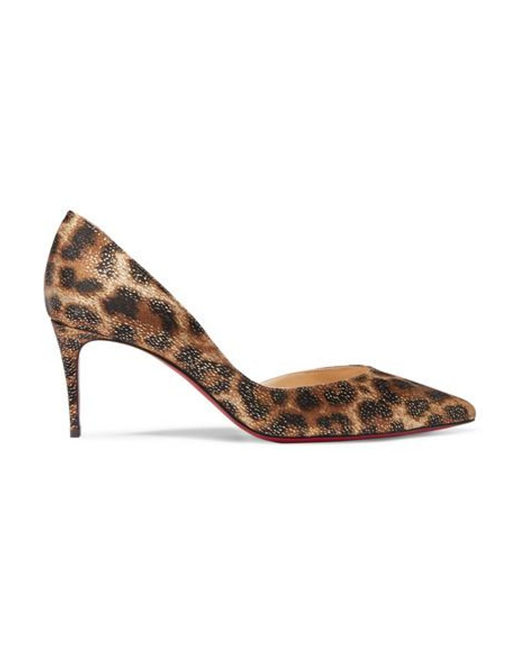 outlet store 22d2b 6ce1f Women's Brown Iriza 70 Metallic Leopard-print Satin Pumps