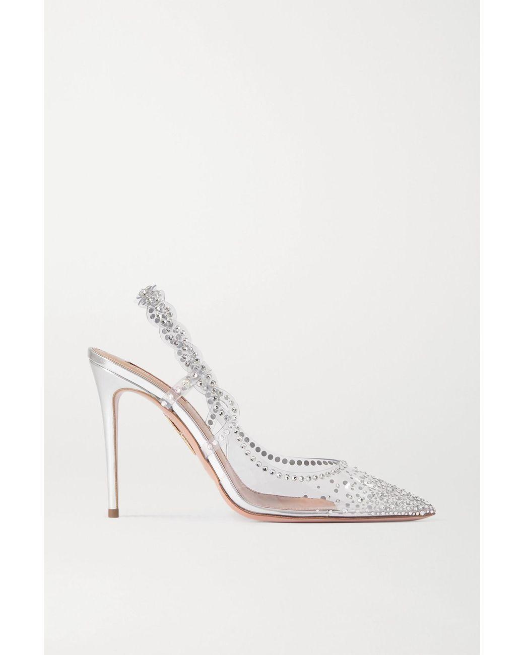 Aquazzura Bridal | Womens Heaven Sandal 105 SILVER
