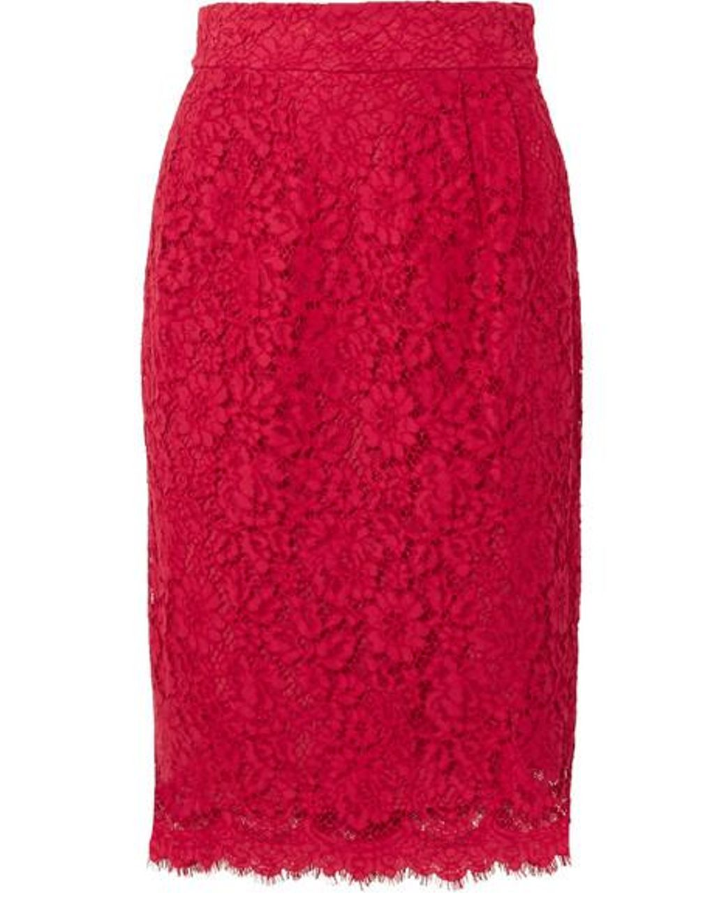 de2e7a3b7d J.Crew Lace Pencil Skirt in Red - Save 57% - Lyst